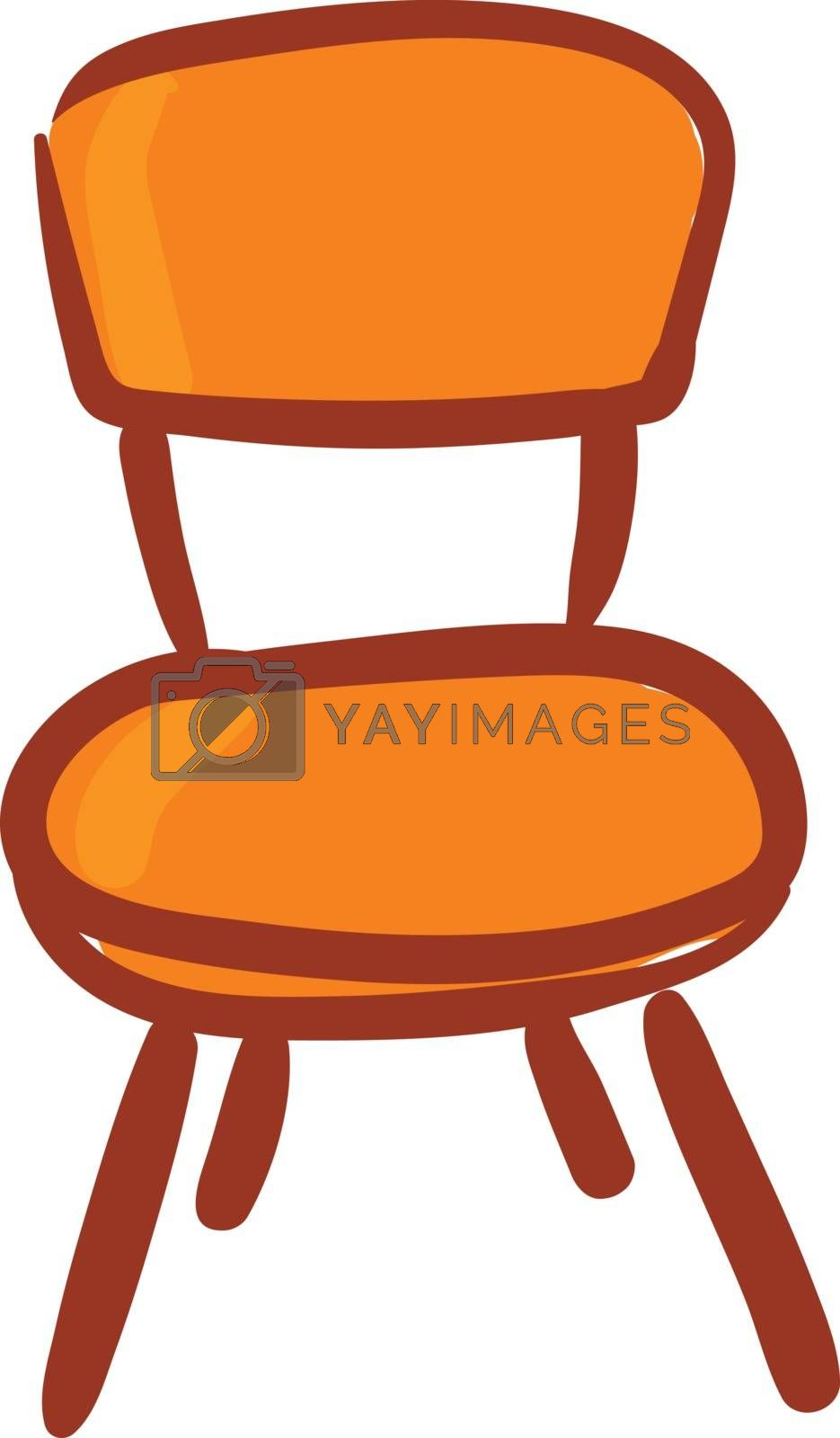 Royalty free image of Clipart of an orange-colored chair vector or color illustration by Morphart