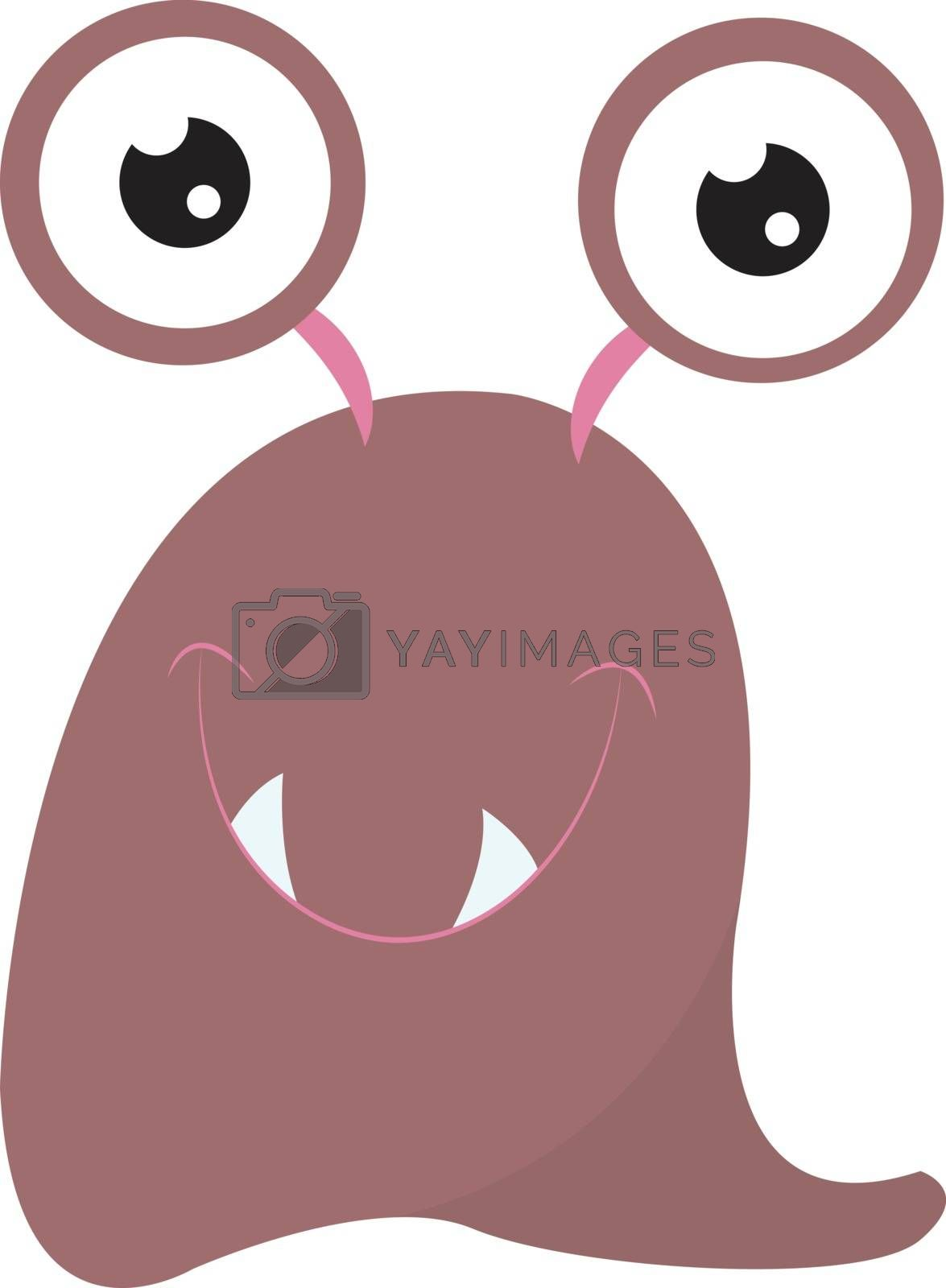 Royalty free image of Clipart of a pink-colored smiling monster with two eyes vector o by Morphart