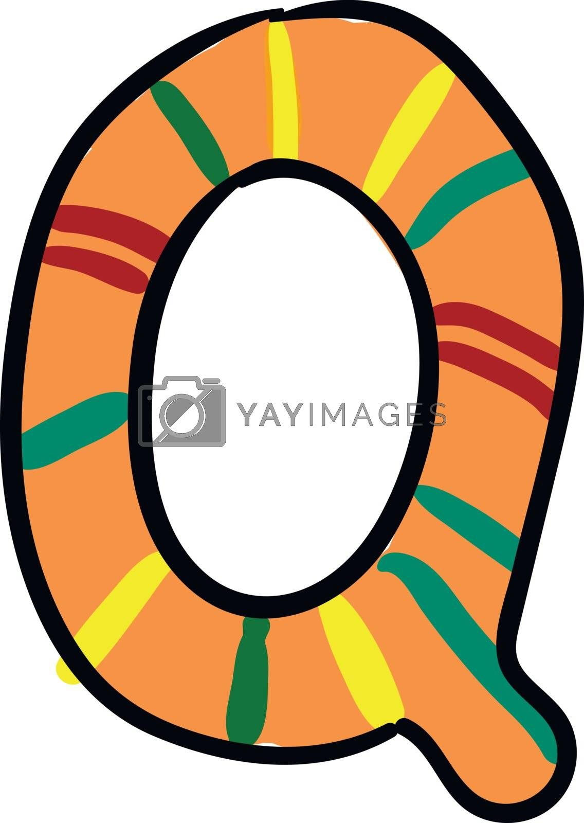 Royalty free image of Painting of the letter Q alphabet in multicolors vector or color by Morphart