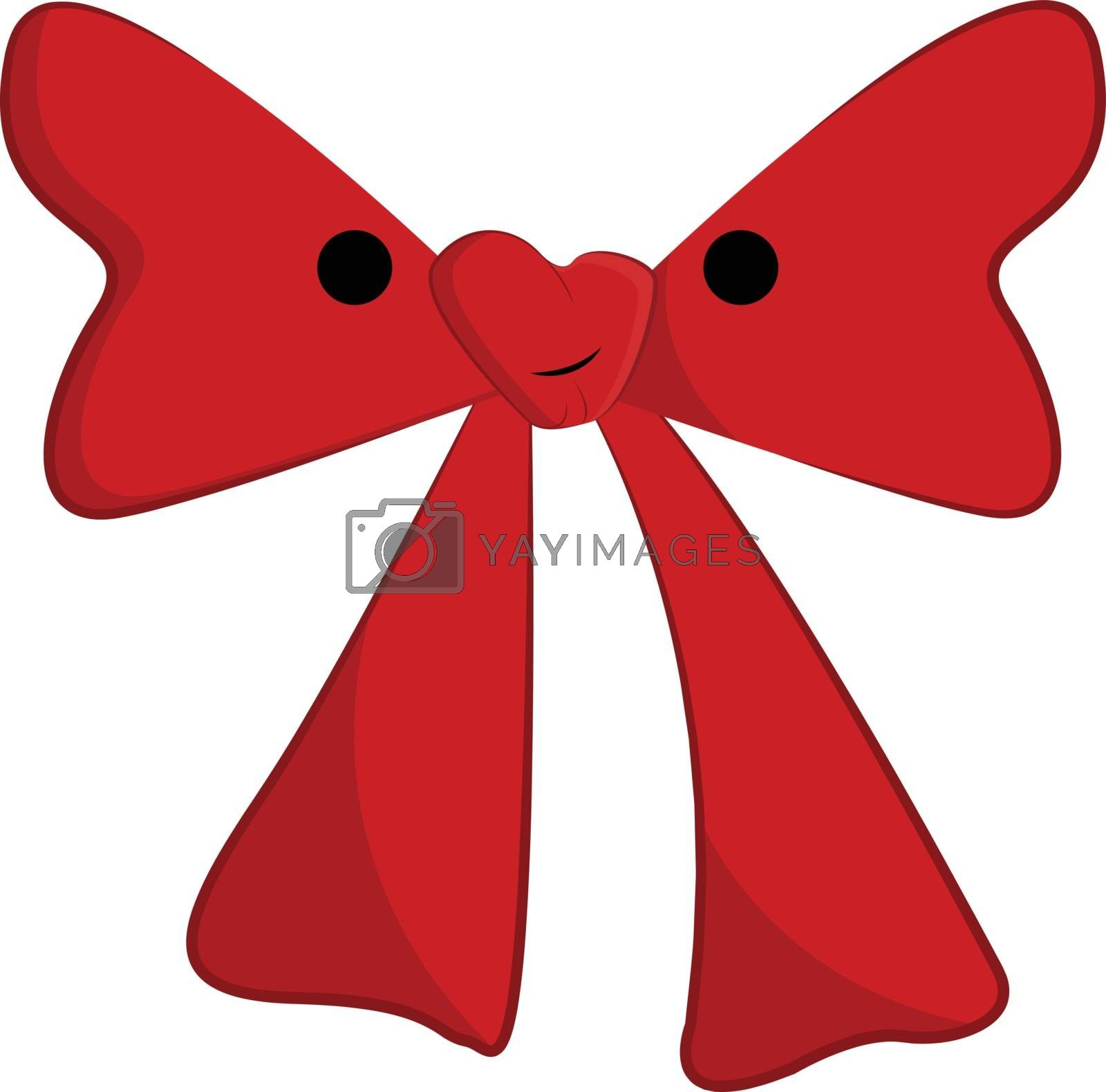 Royalty free image of Clipart of a red bow tie with a white exclamation mark vector or by Morphart