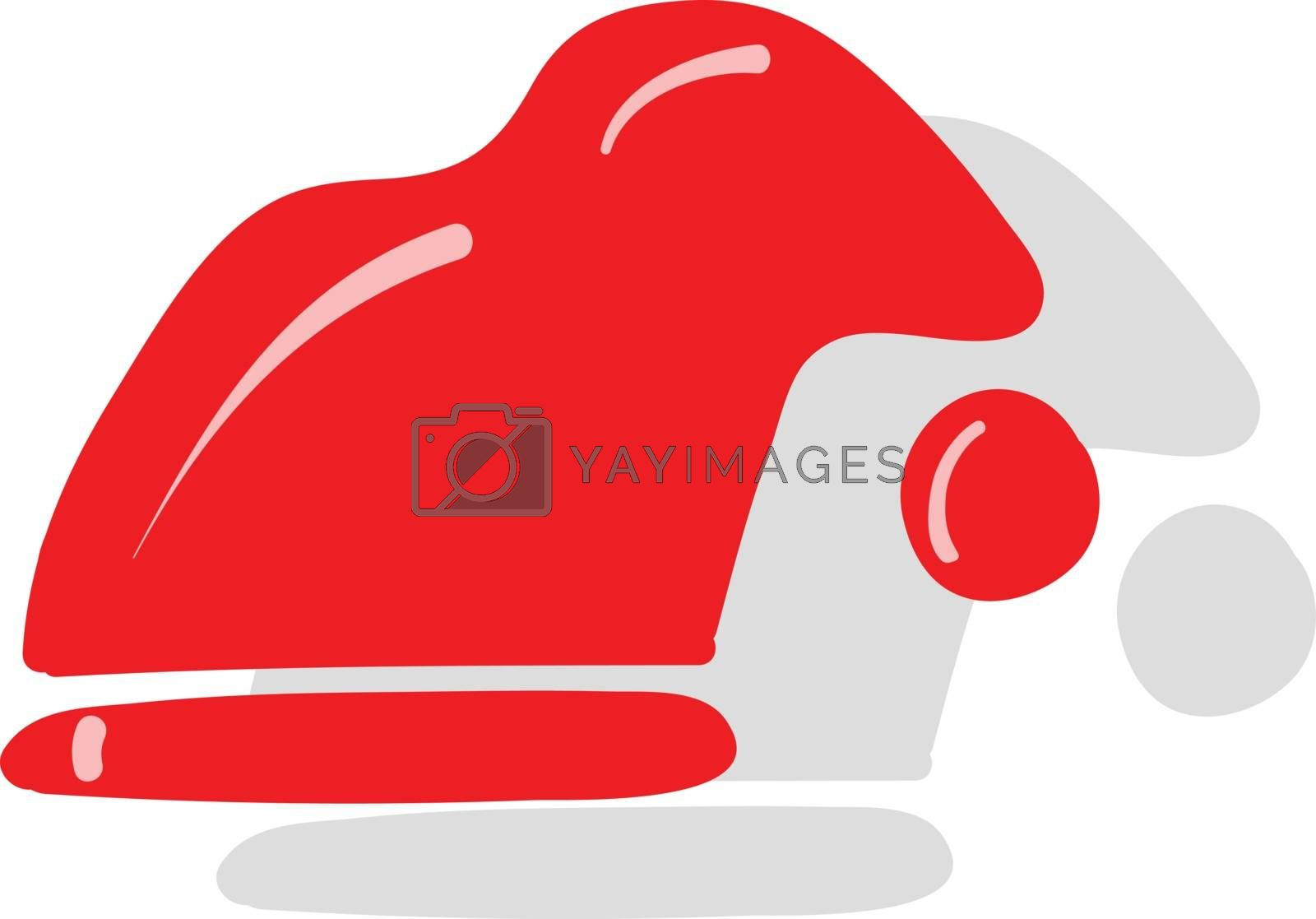 Royalty free image of Clipart of a snowman hat in red and white colors vector or color by Morphart