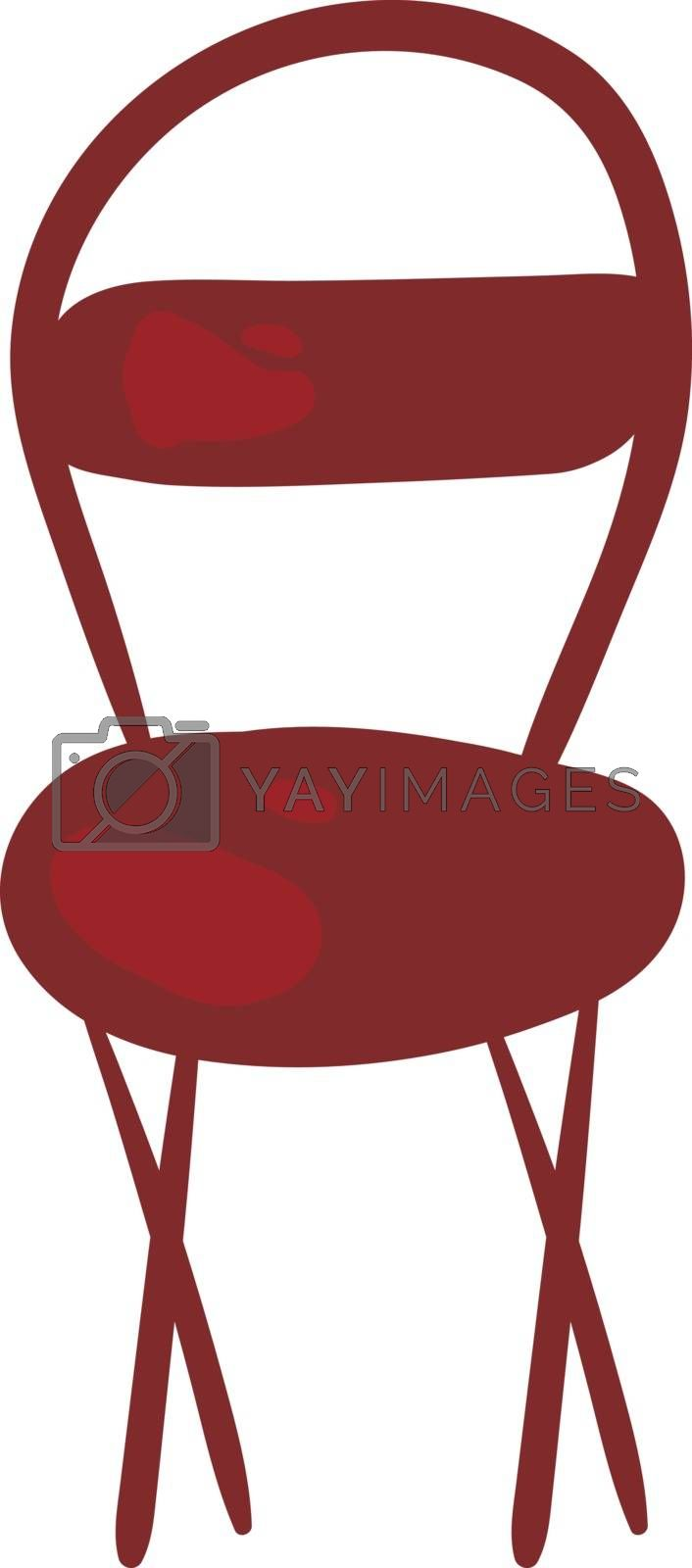 Royalty free image of Clipart of a red-colored chair vector or color illustration by Morphart