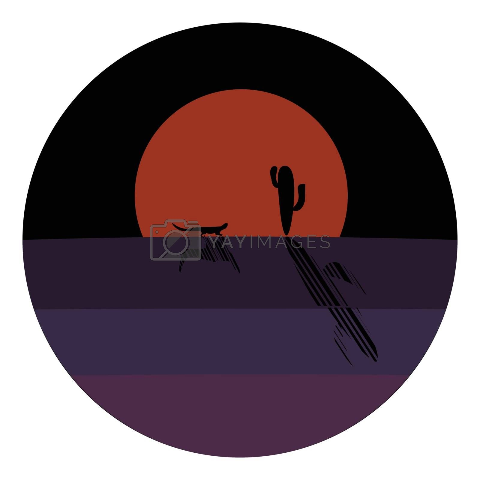 Royalty free image of Portrait of a desert at night over dark background vector or col by Morphart