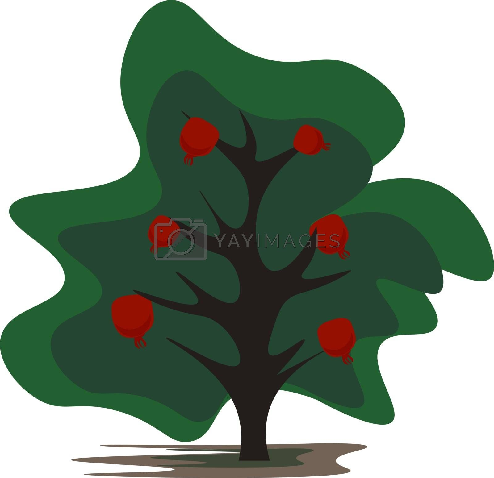 Royalty free image of Cartoon pomegranate tree vector or color illustration by Morphart