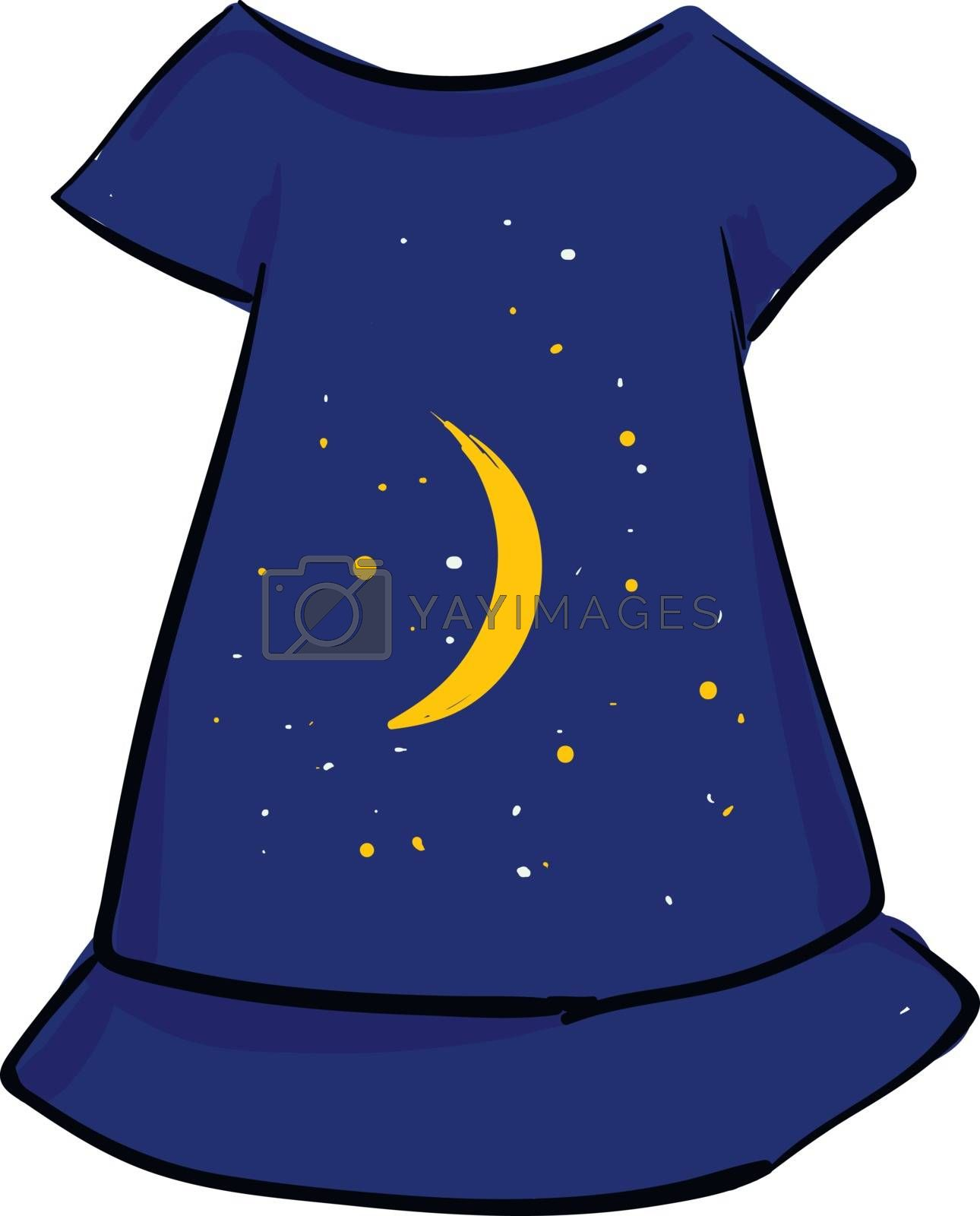 Royalty free image of Painting of a showcase blue-colored women's nightie vector or co by Morphart