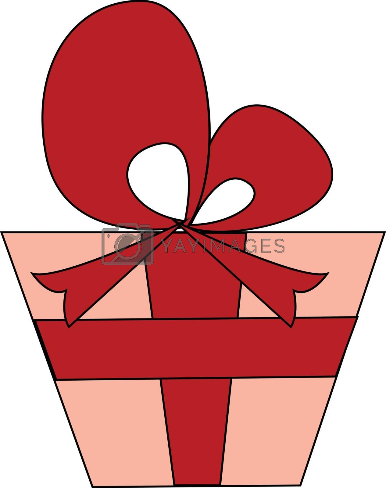 Royalty free image of Clipart of a red-colored gift box vector or color illustration by Morphart