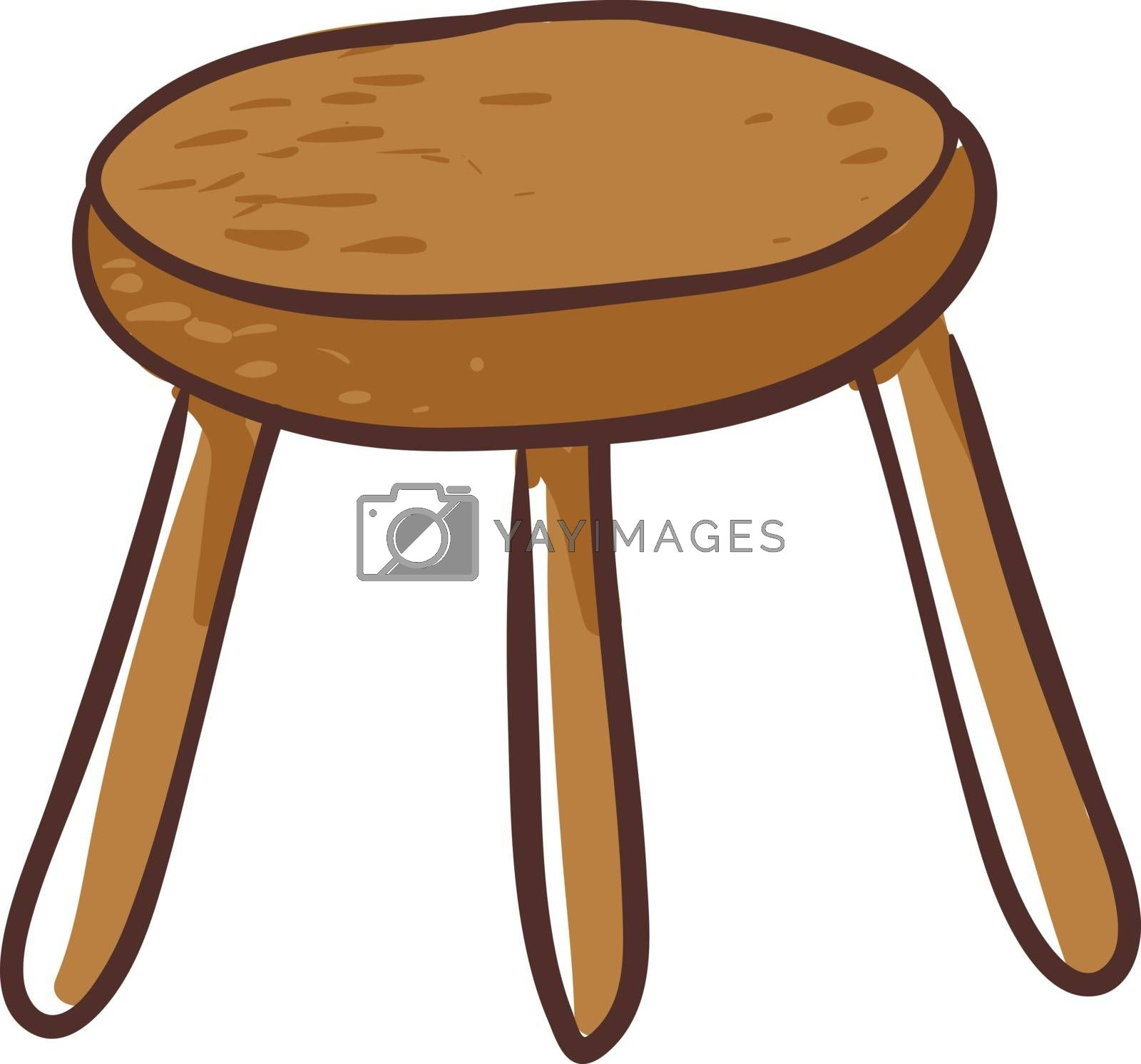 Royalty free image of Clipart of a round-shaped brown stool vector or color illustrati by Morphart