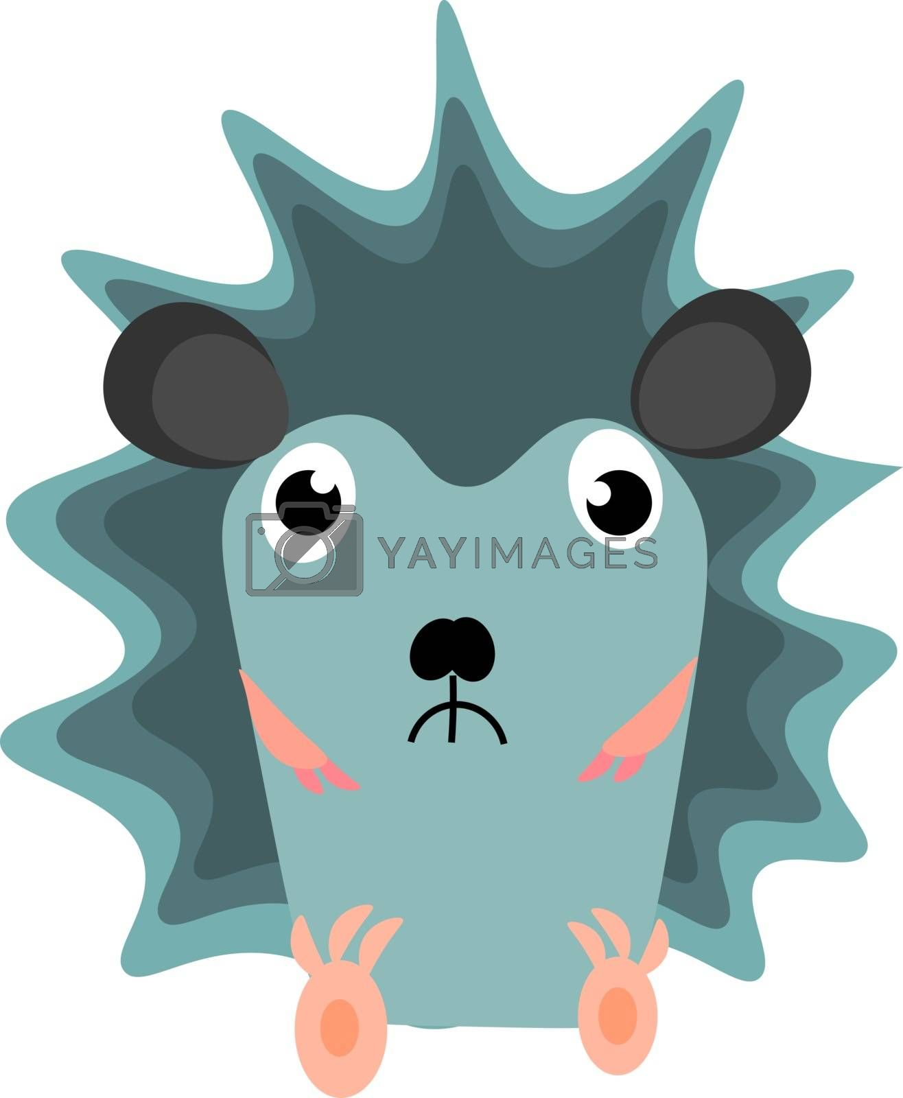 Royalty free image of Emoji of a sad blue-colored hedgehog vector or color illustratio by Morphart