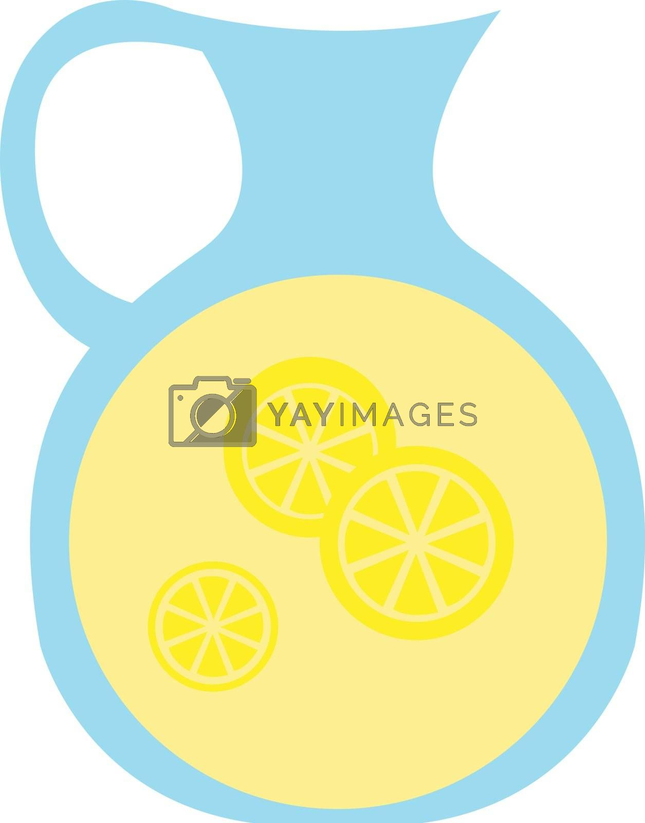 Royalty free image of Clipart of a jar filled with lemon juice vector or color illustr by Morphart