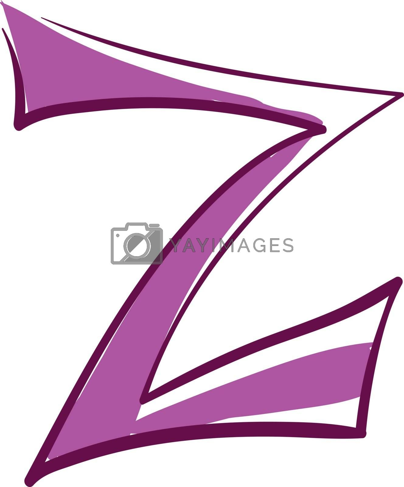 Royalty free image of Letter Z alphabet vector or color illustration by Morphart