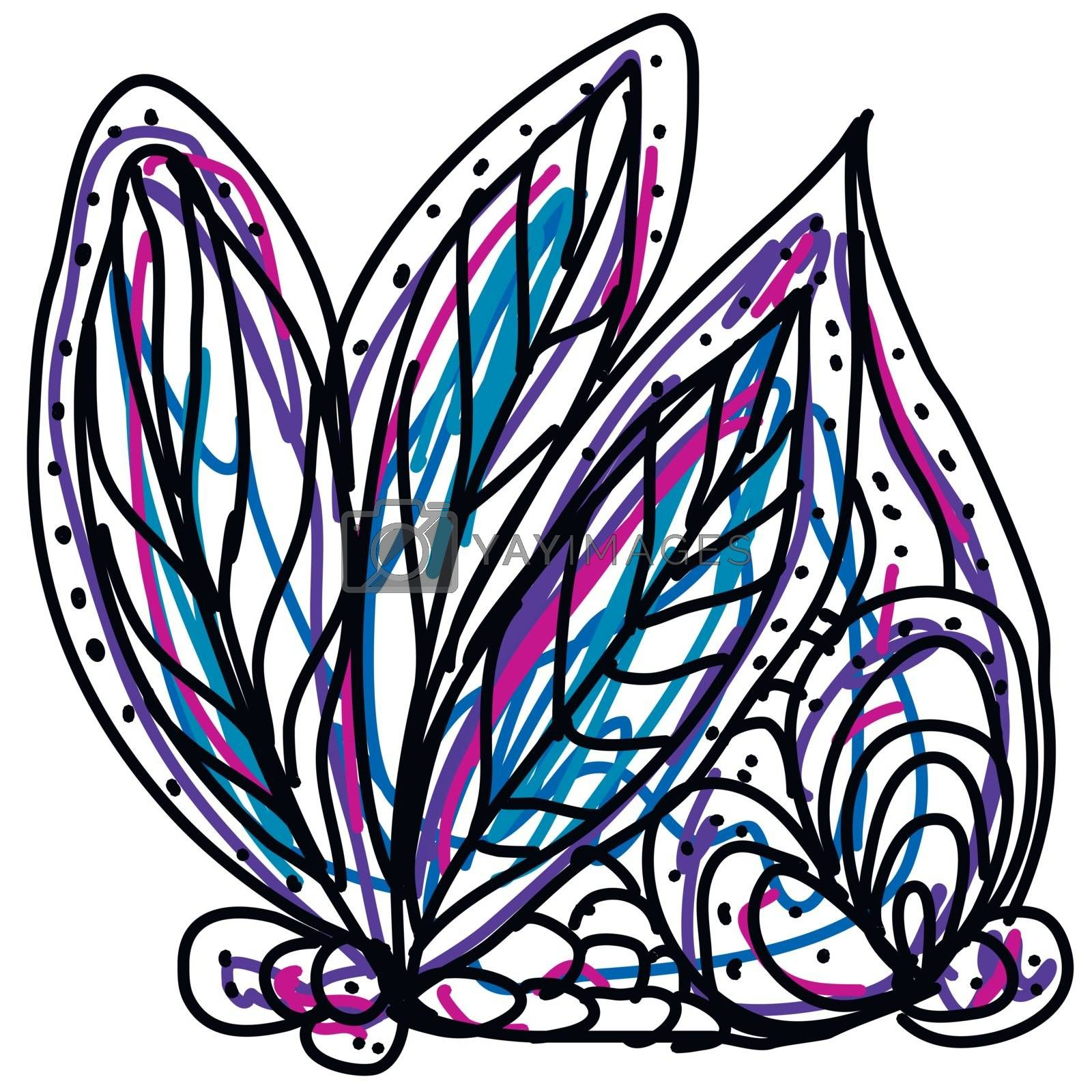Royalty free image of Colorful sketch with few decorative leaves ornaments  vector or  by Morphart