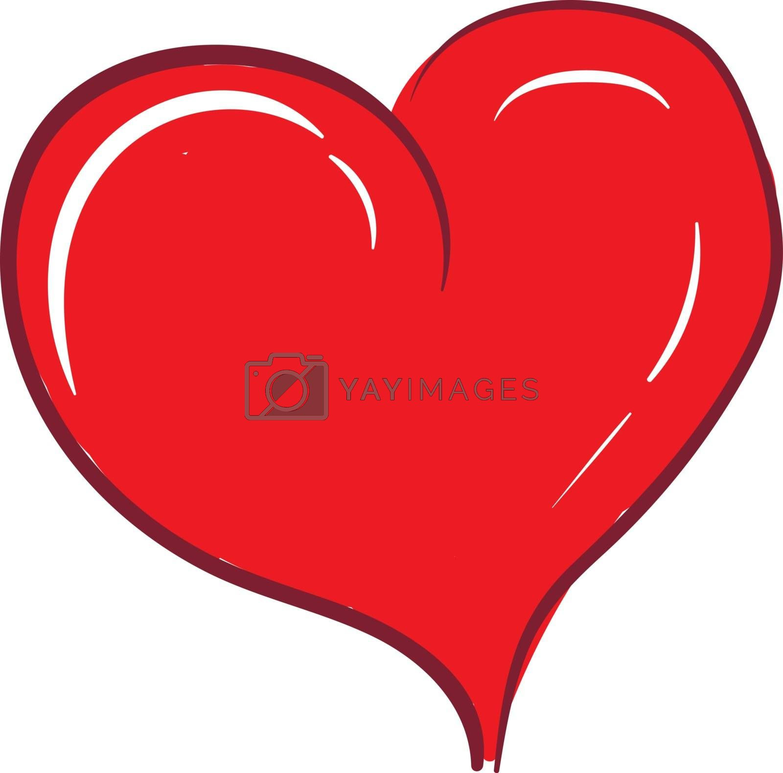 Royalty free image of Clipart of a curvy smart red heart vector or color illustration by Morphart