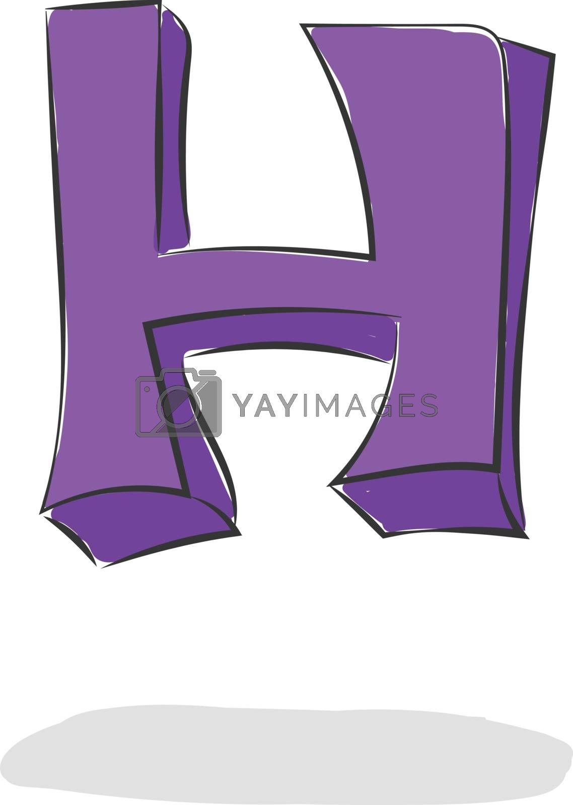 Royalty free image of Jumping letter H alphabet vector or color illustration by Morphart