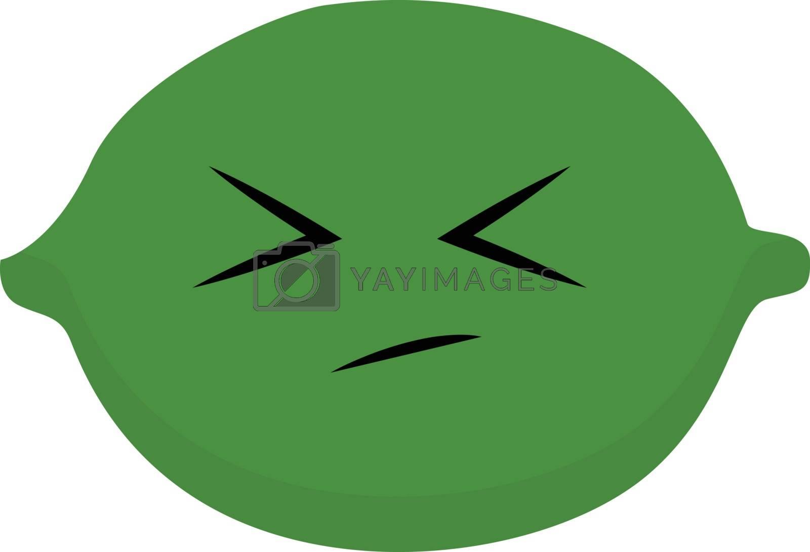 Royalty free image of Emoji sad green lime vector or color illustration by Morphart