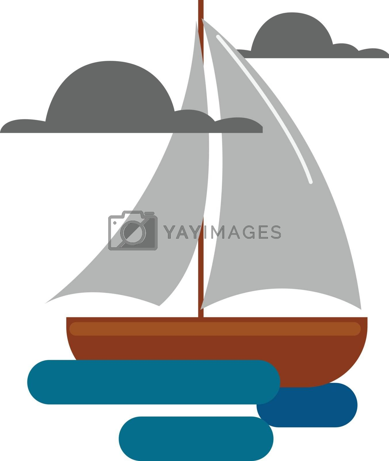 Royalty free image of Clipart of a boat vector or color illustration by Morphart