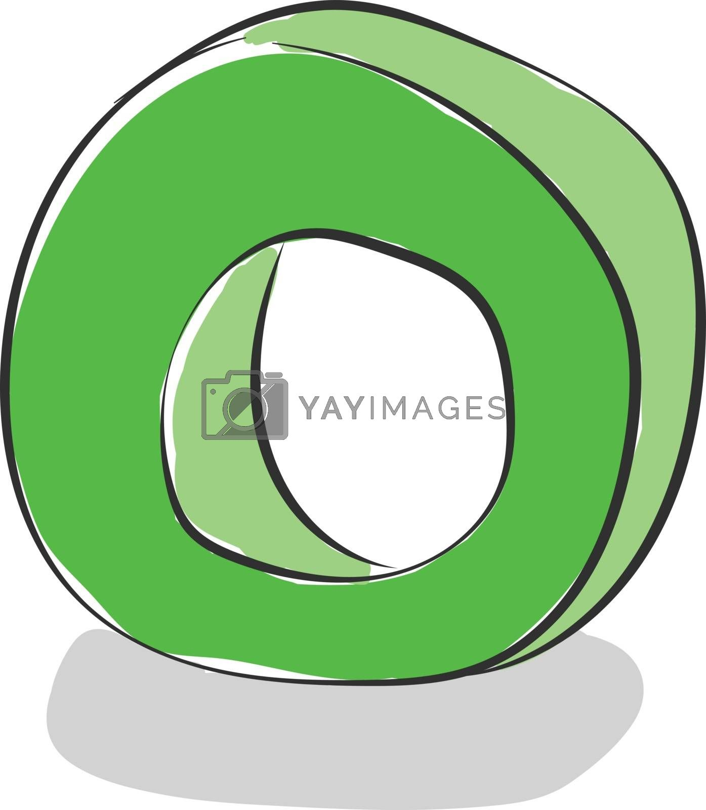 Royalty free image of Letter O alphabet vector or color illustration by Morphart