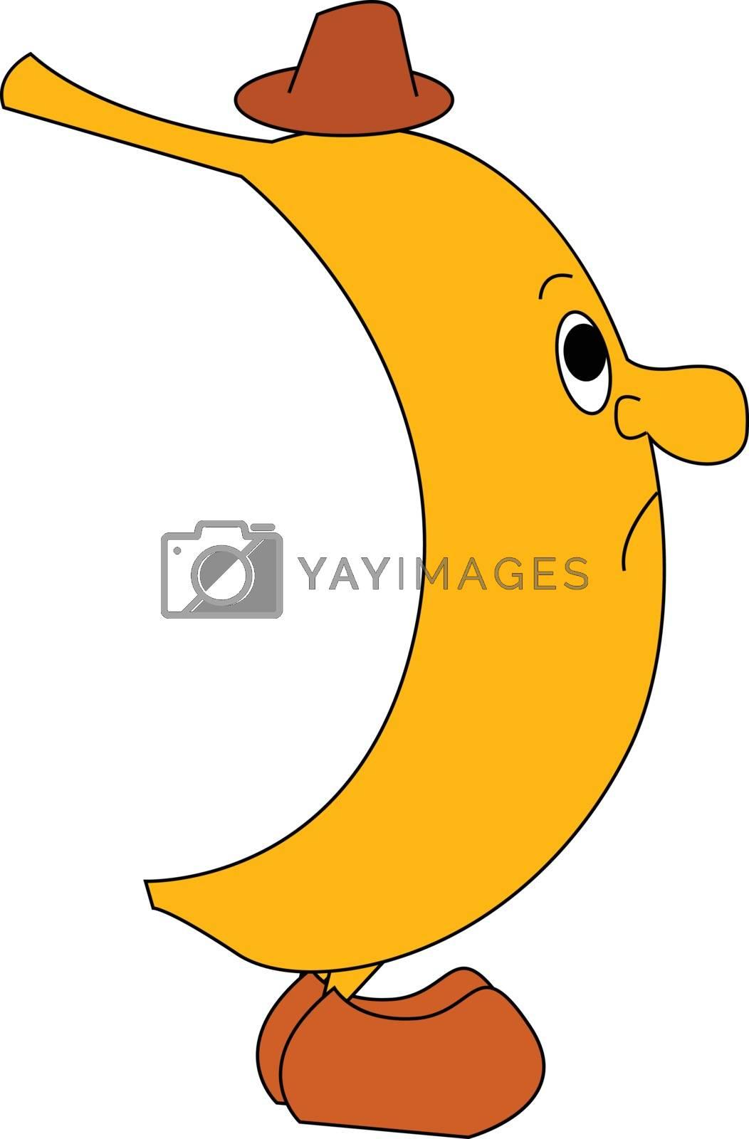 Royalty free image of Emoji of a sad banana vector or color illustration by Morphart