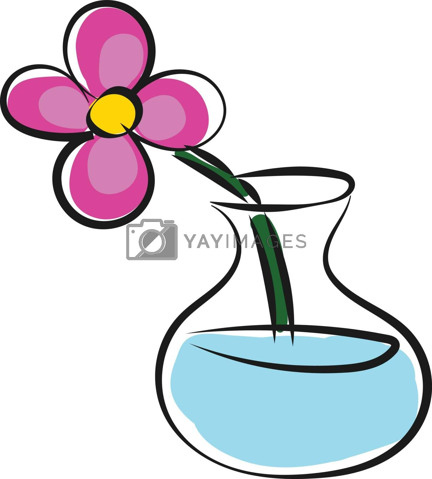 Royalty free image of A flower vase with flowers vector or color illustration by Morphart