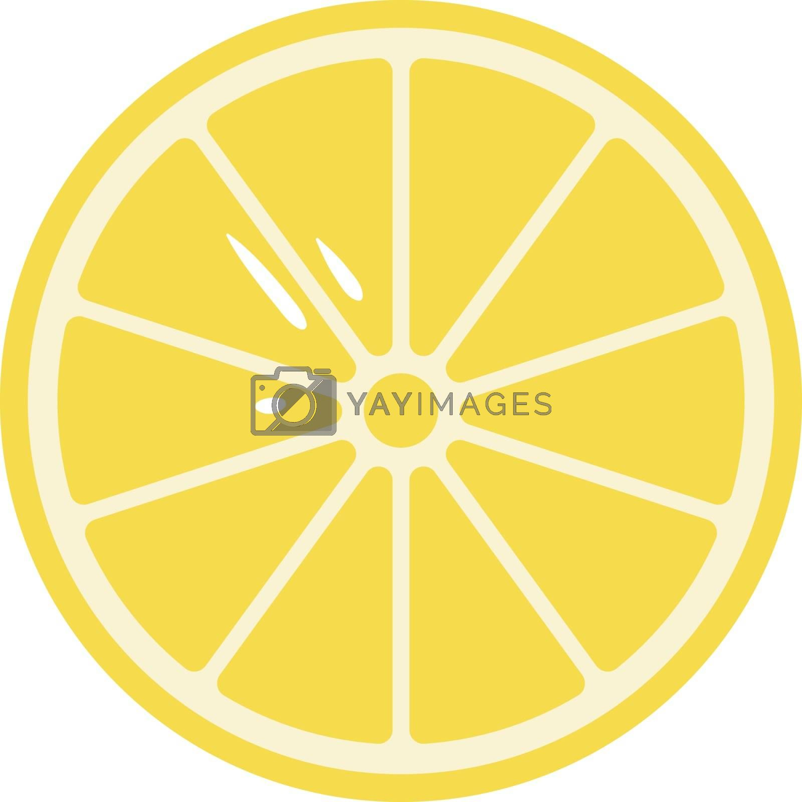 Royalty free image of Cartoon sliced yellow lemon vector or color illustration by Morphart