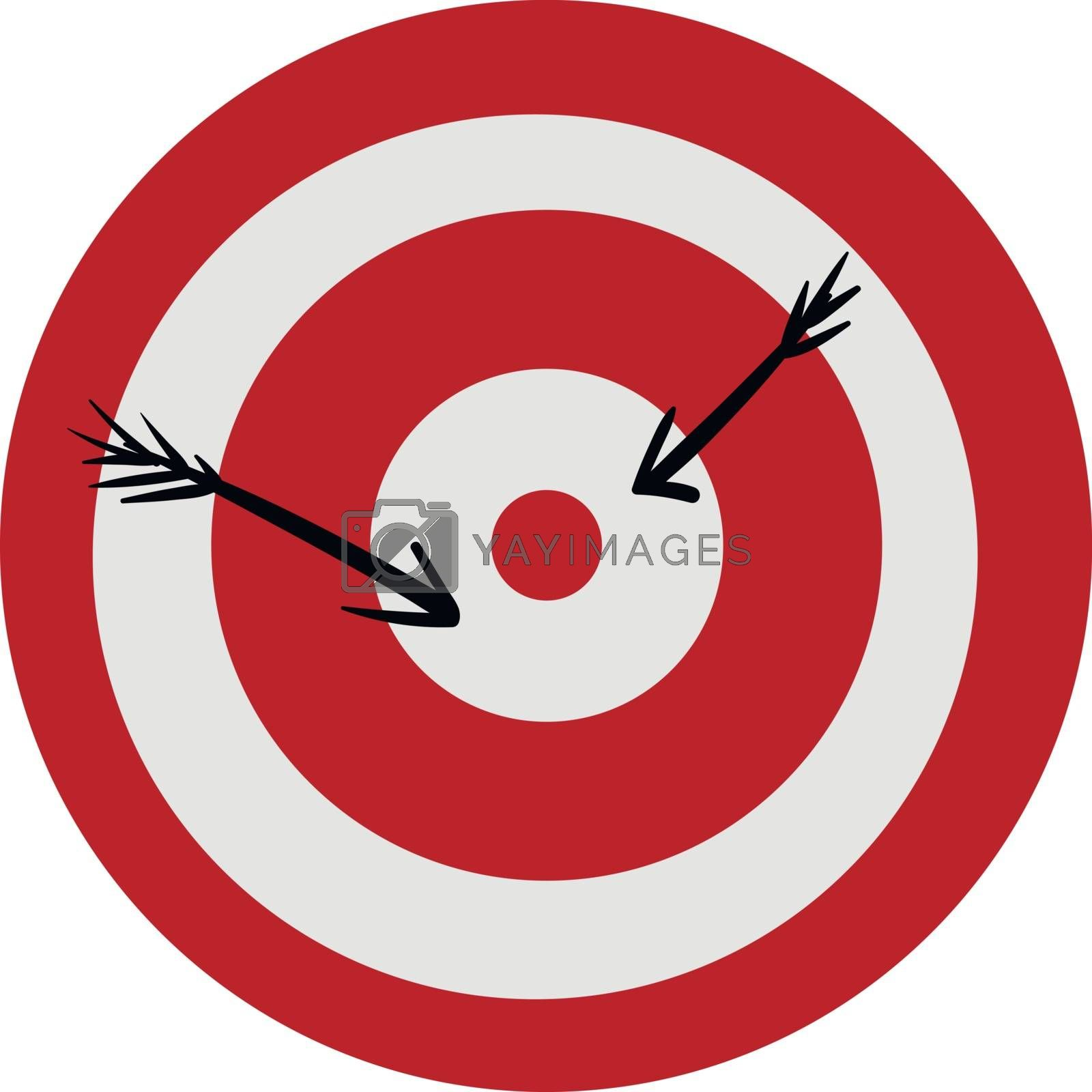 Royalty free image of Clipart of a red-colored bullseye vector or color illustration by Morphart
