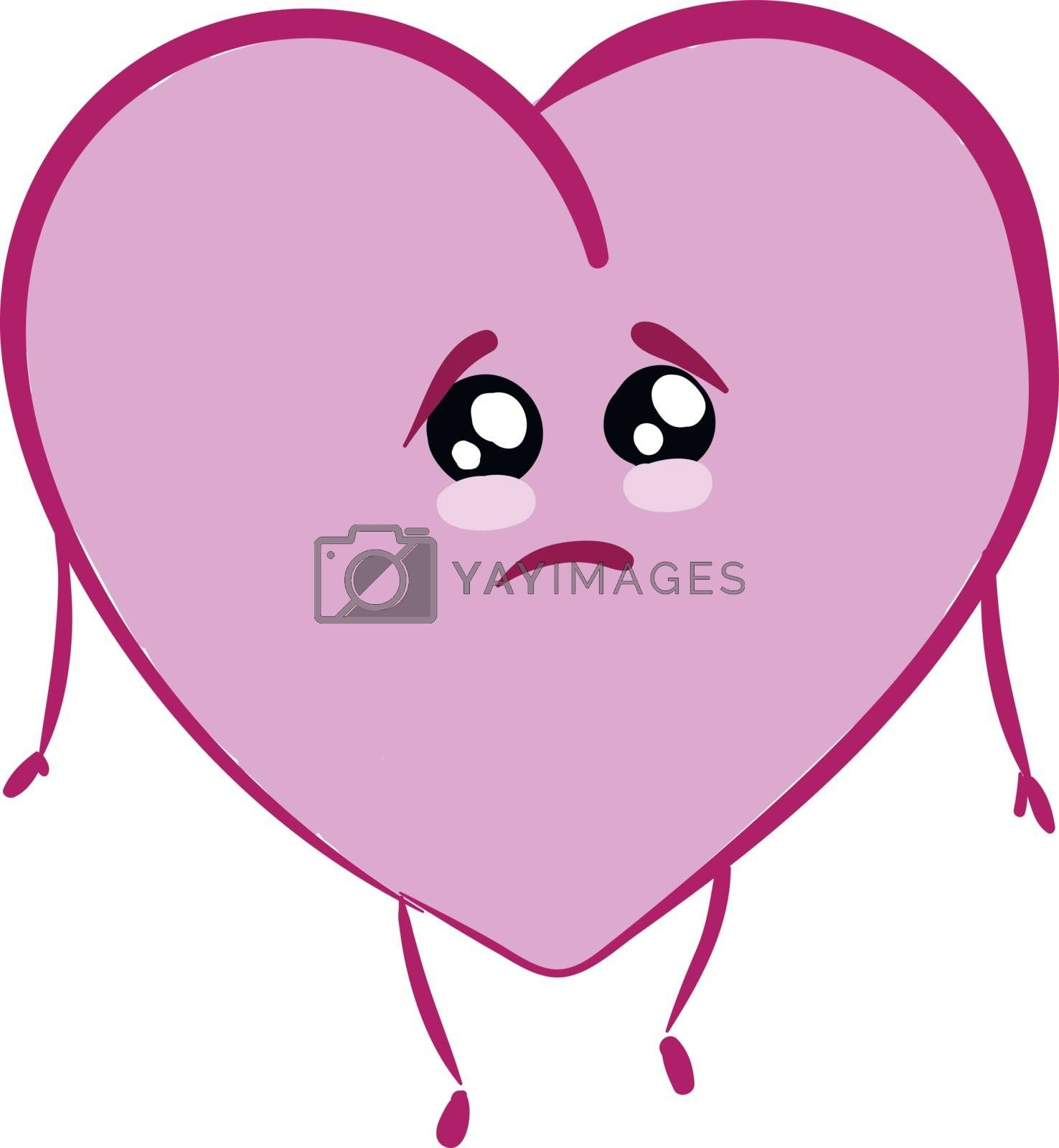 Royalty free image of Emoji of a sad rose-colored heart set on isolated white backgrou by Morphart