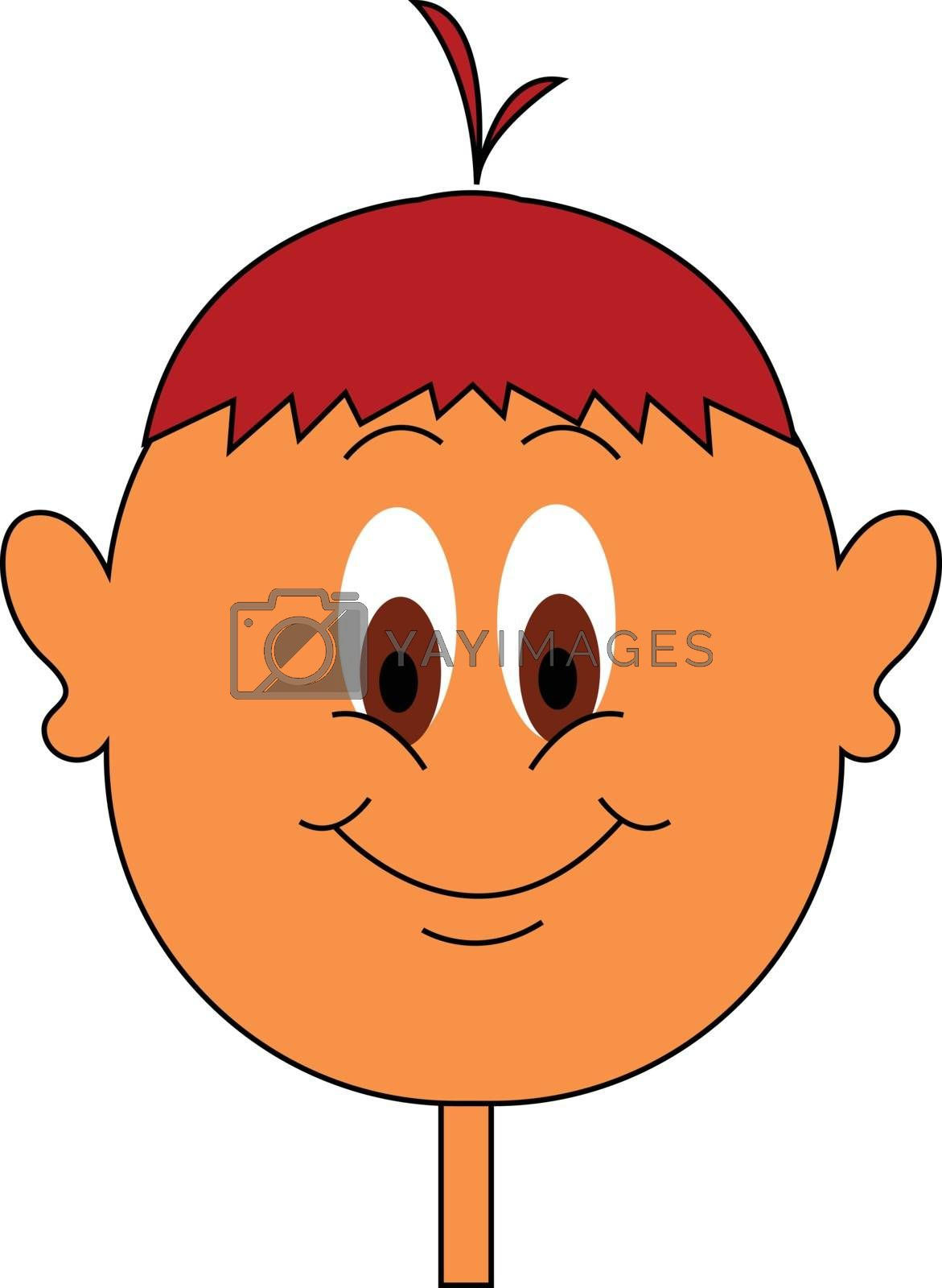 Royalty free image of Clipart of a boy with red hair color vector or color illustratio by Morphart