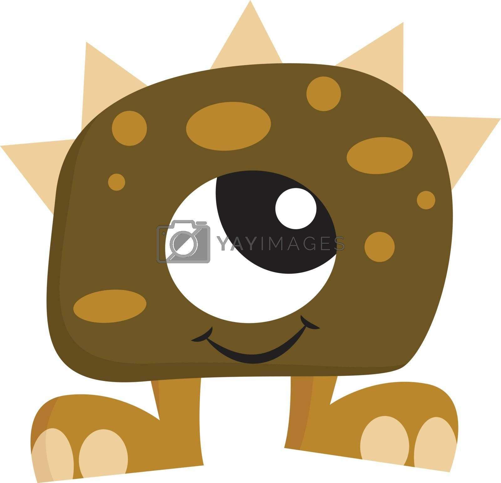 Royalty free image of Clipart of green-colored smiling monster with one big eye vector by Morphart