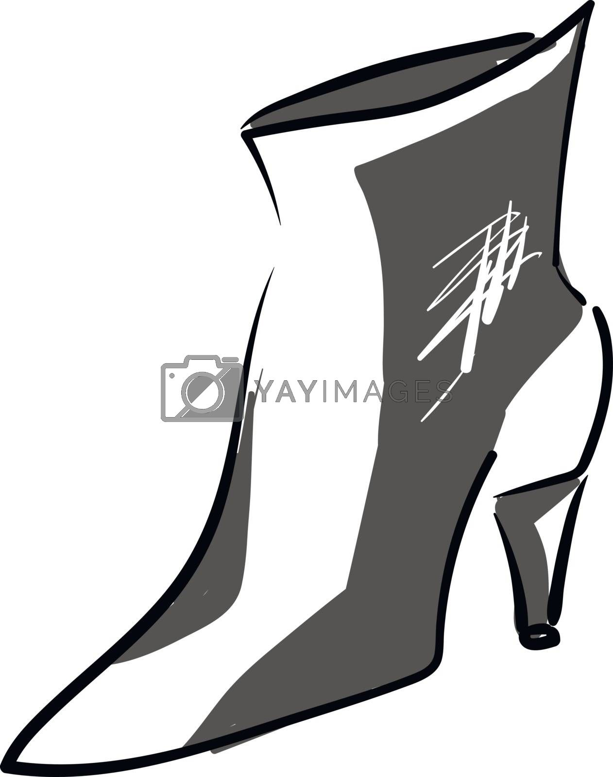 Royalty free image of Clipart of a high heel grey shoe vector or color illustration by Morphart