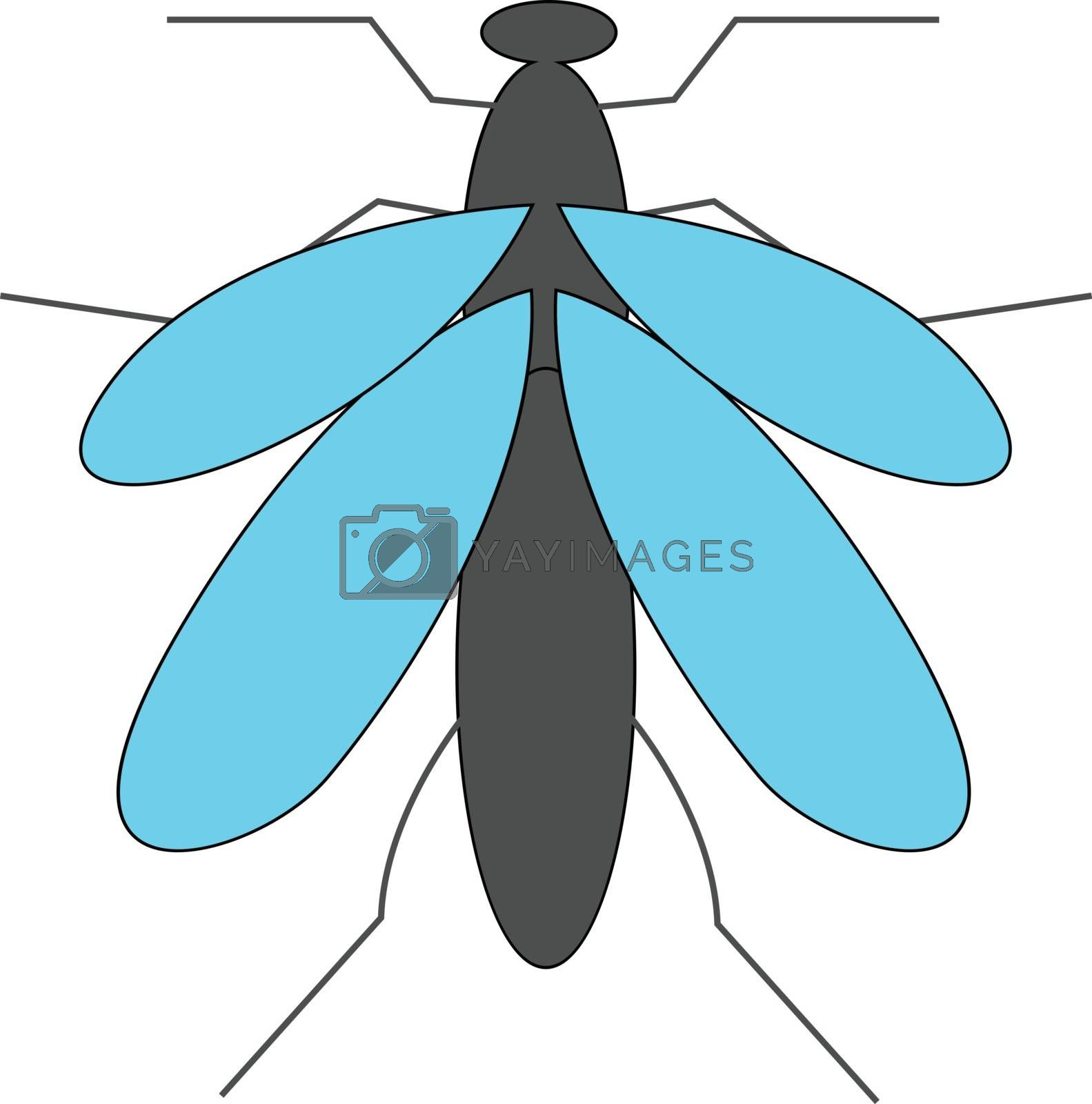 Royalty free image of Cartoon grey mosquito vector or color illustration by Morphart