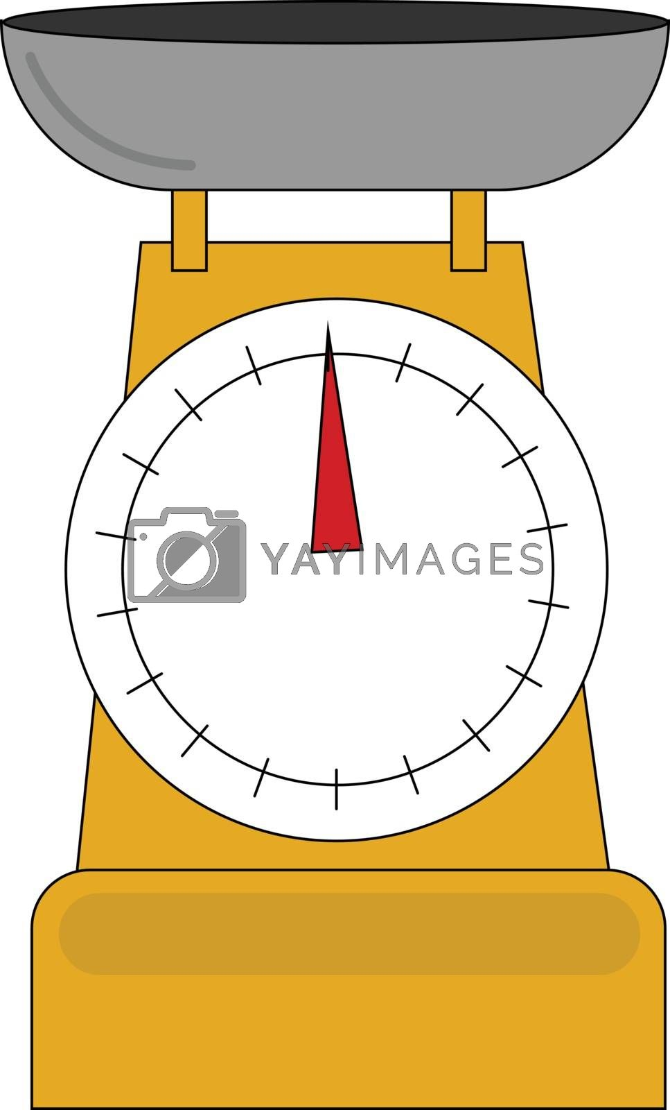 Royalty free image of Clipart of yellow-colored Libra weighing scale/Mechanical dial s by Morphart