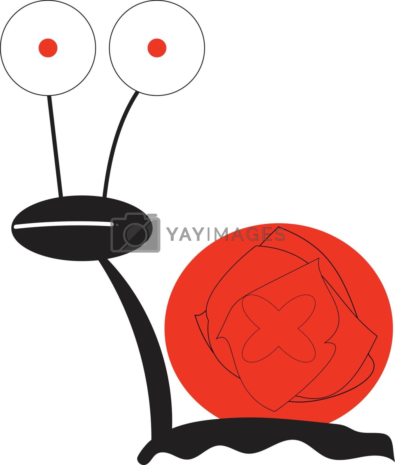 Royalty free image of A crazy snail/Stupid snail vector or color illustration by Morphart