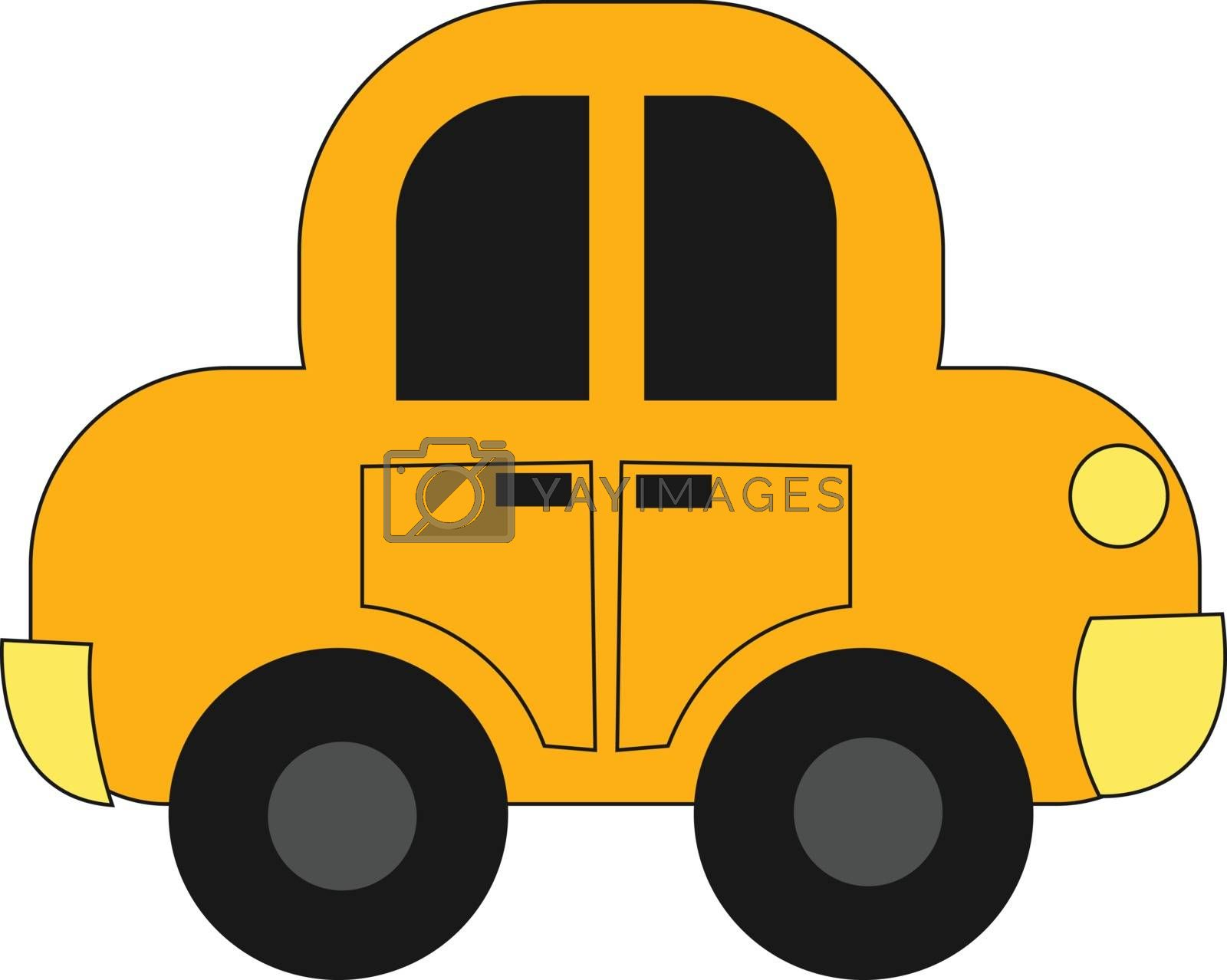 Royalty free image of Drawing of a yellow toy car set on isolated white background vie by Morphart