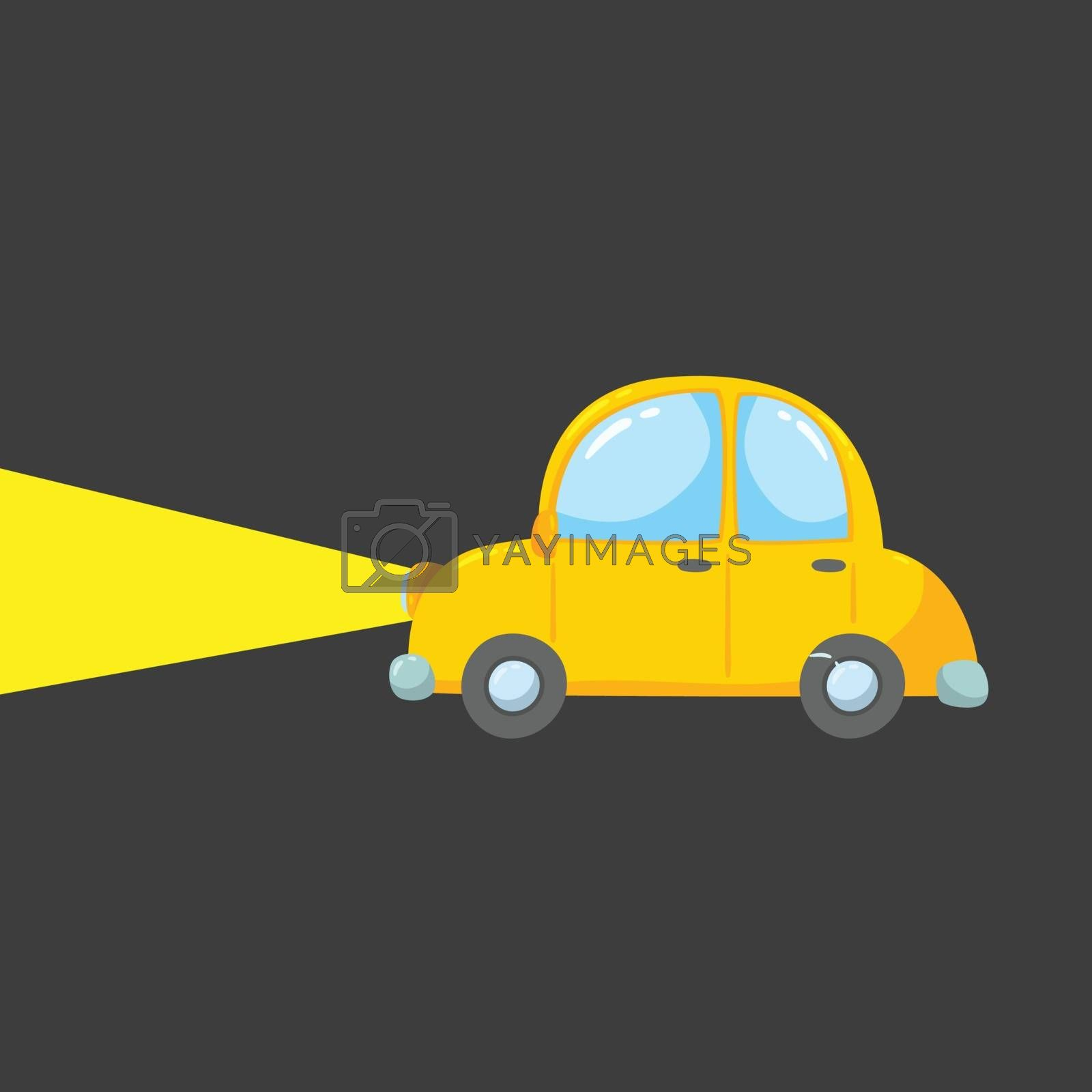 Royalty free image of Drawing of a yellow toy car vector or color illustration by Morphart