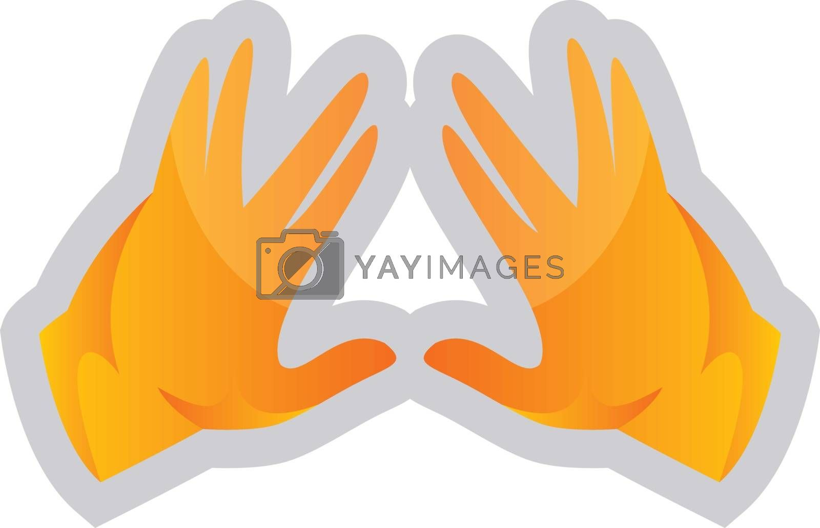 Royalty free image of Simple vector illustration on a white background of a yellow Koh by Morphart