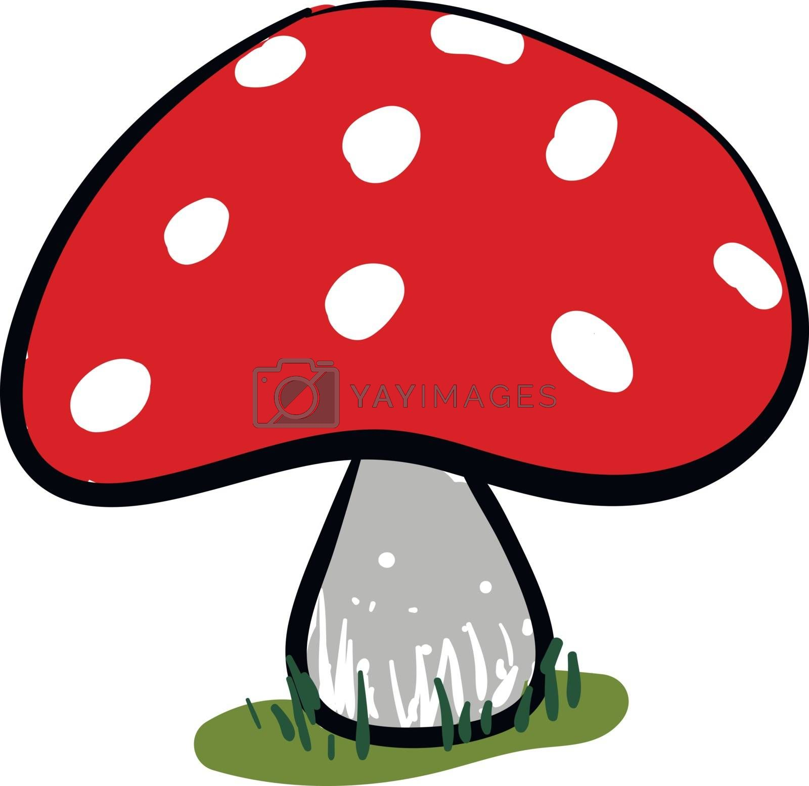 Royalty free image of Clipart of a red mushroom vector or color illustration by Morphart