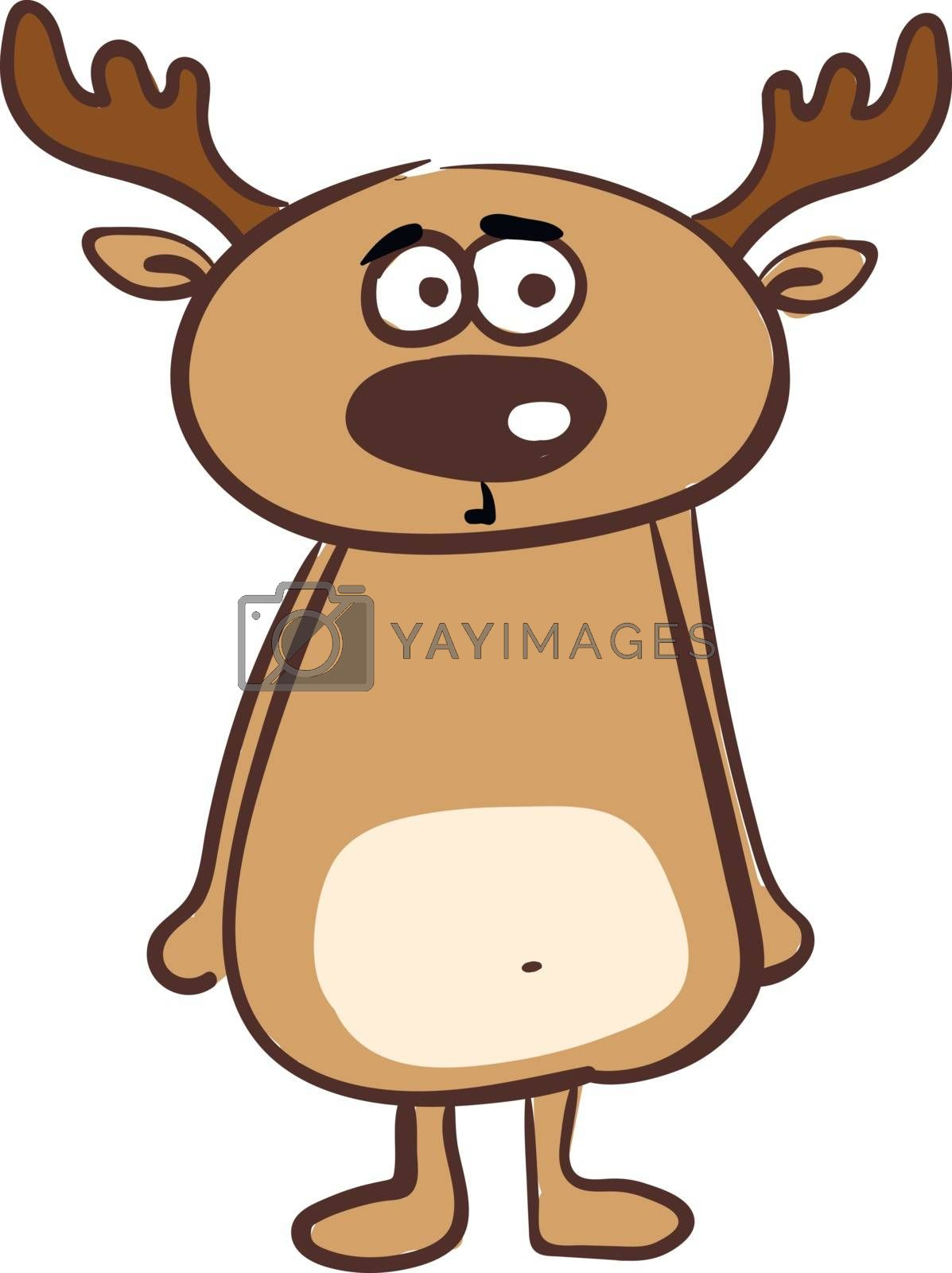 Royalty free image of Clipart of a surprised deer vector or color illustration by Morphart