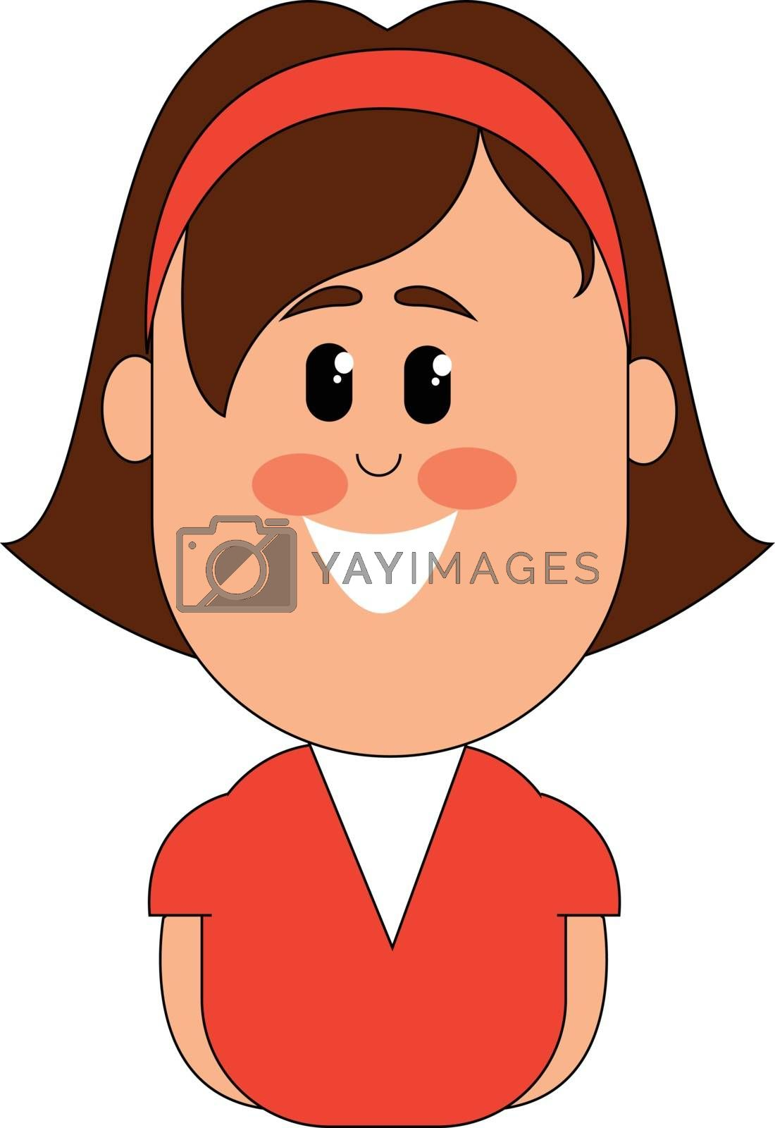 Royalty free image of Clipart of a smiling small girl  vector or color illustration by Morphart