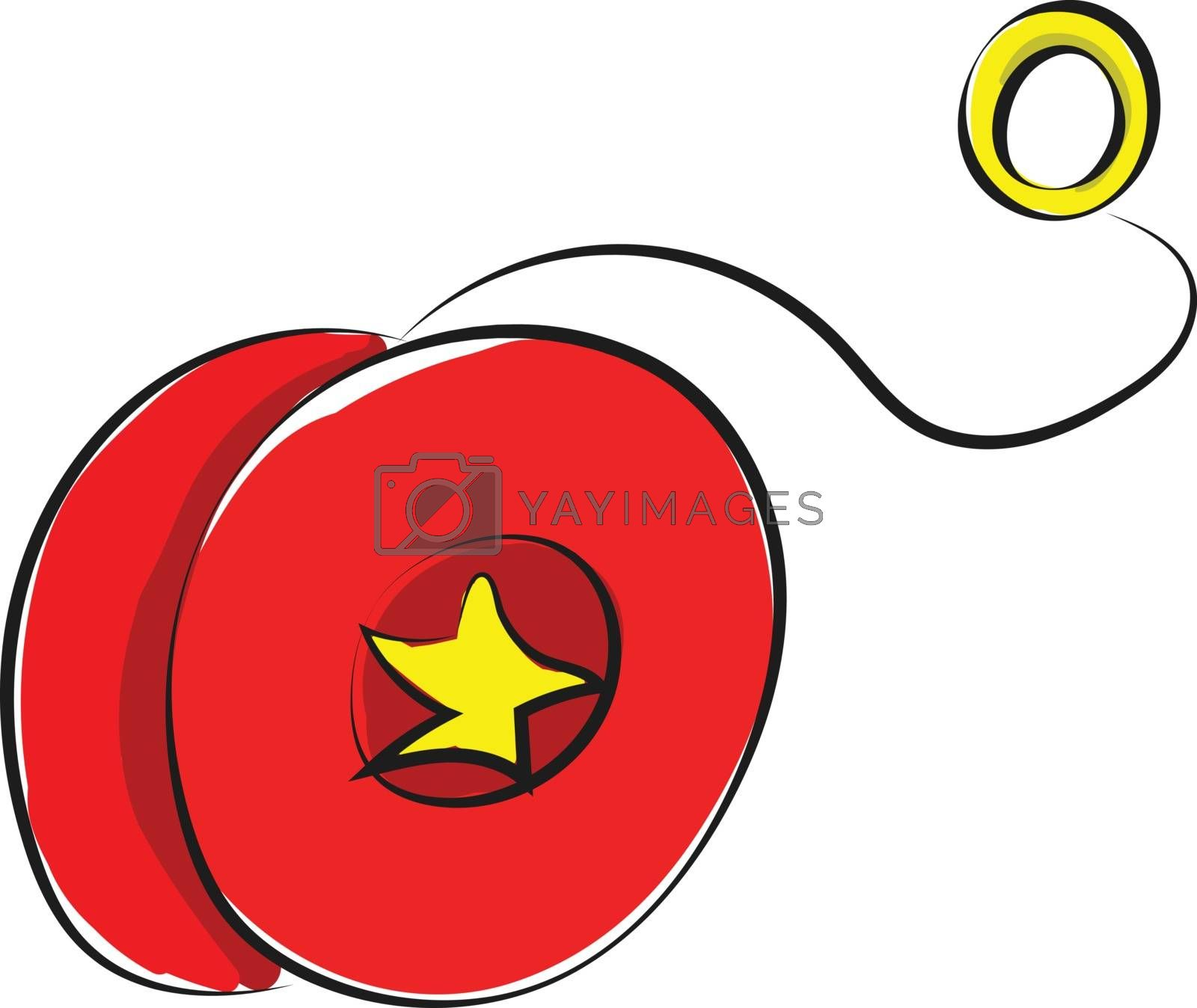 Royalty free image of Drawing of a yo-yo in red and yellow colors vector or color illu by Morphart