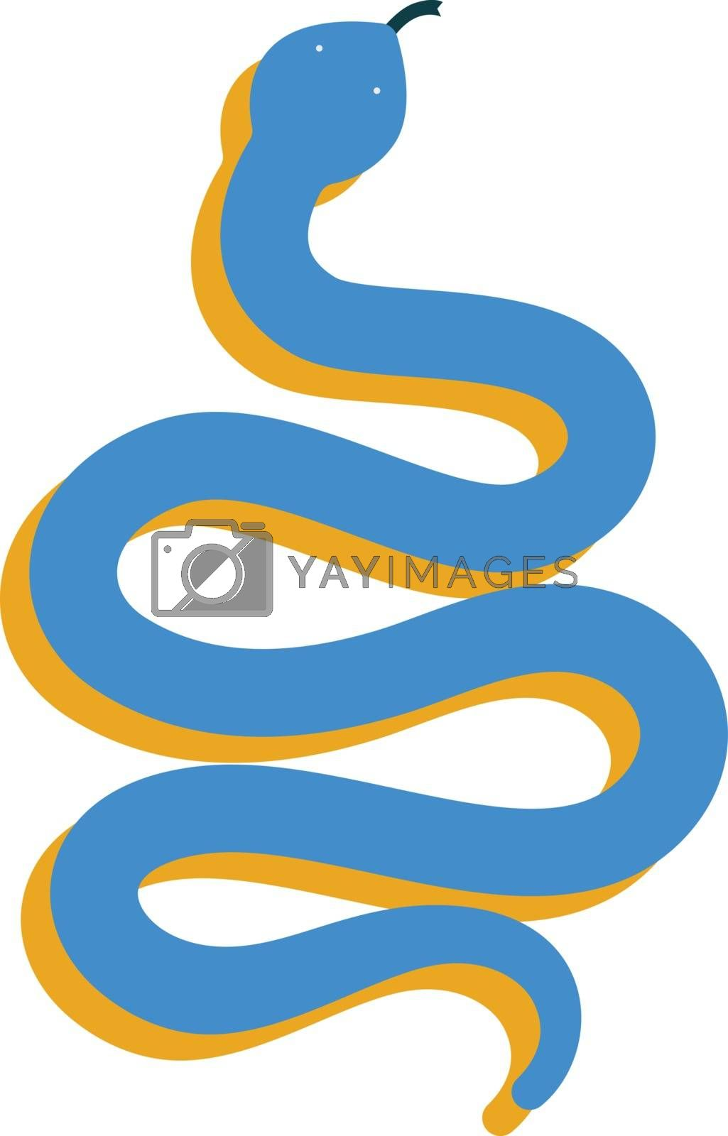 Royalty free image of Clipart of a blue-colored slithering snake vector or color illus by Morphart