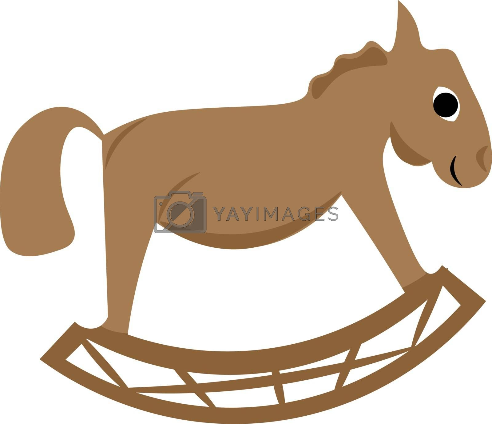 Royalty free image of Clipart of a brown-colored toy rocking horse vector or color ill by Morphart