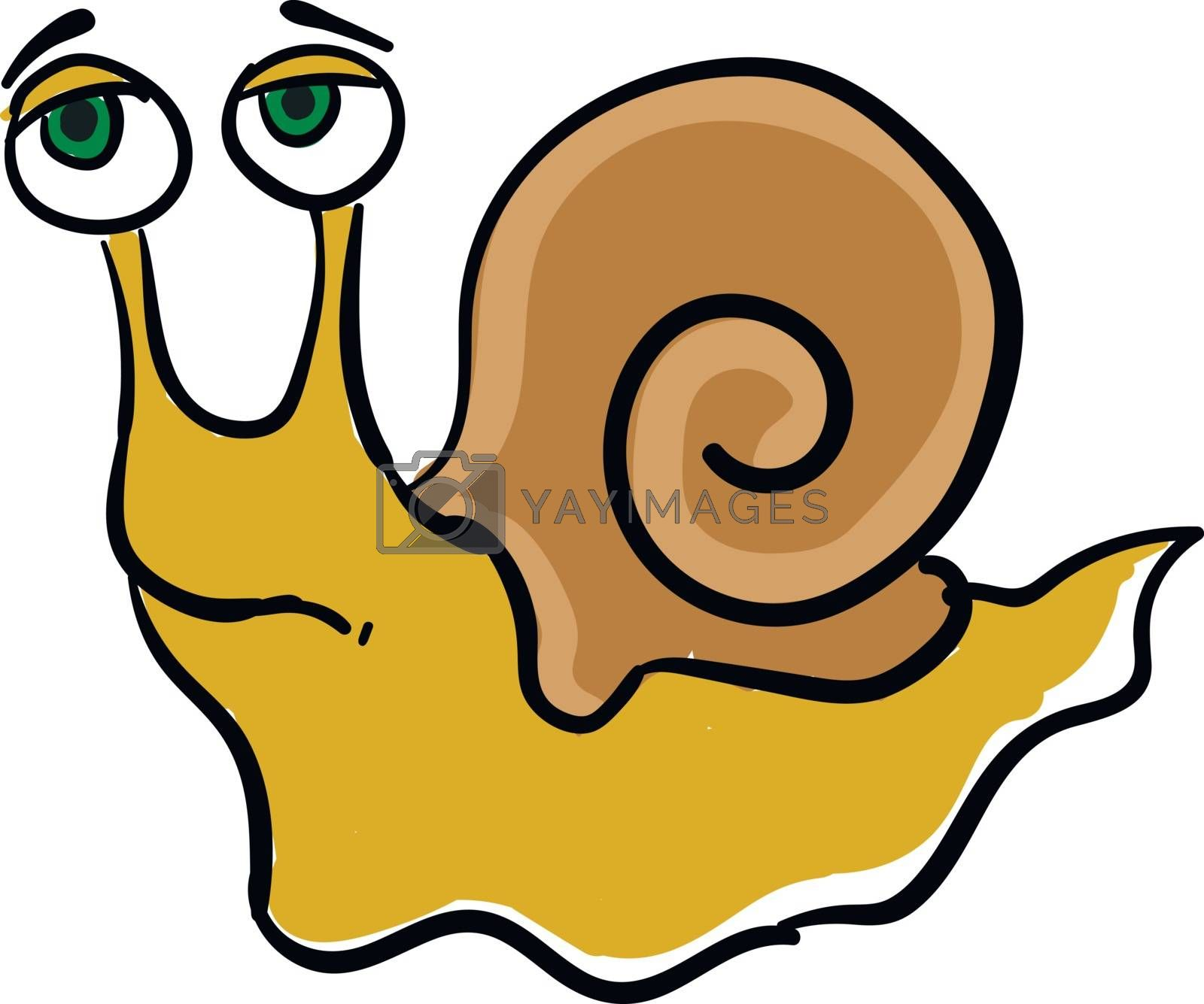 Royalty free image of Emoji of a sad yellow-colored snail vector or color illustration by Morphart