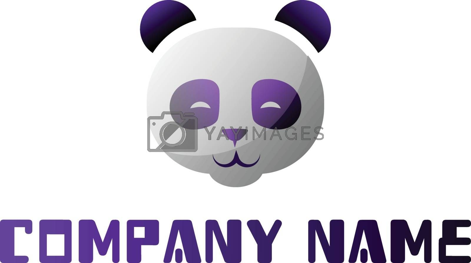 Royalty free image of Purple and white panda head as a company logo vector illustratio by Morphart