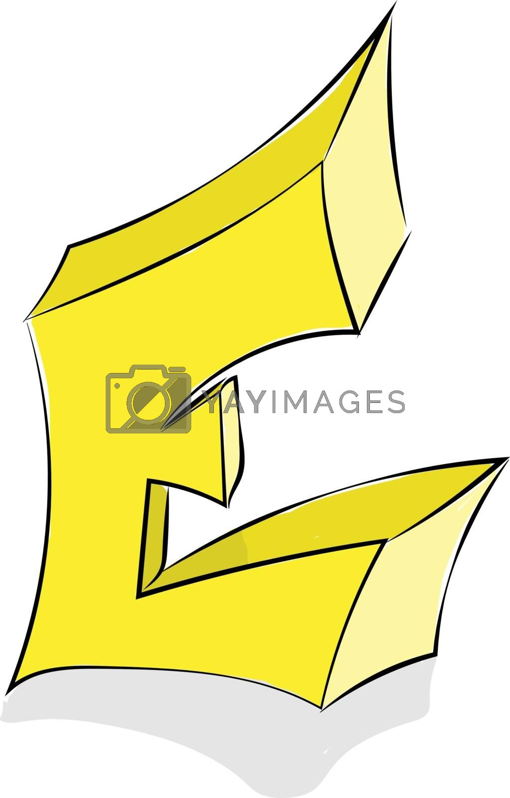Royalty free image of Letter E alphabet vector or color illustration by Morphart