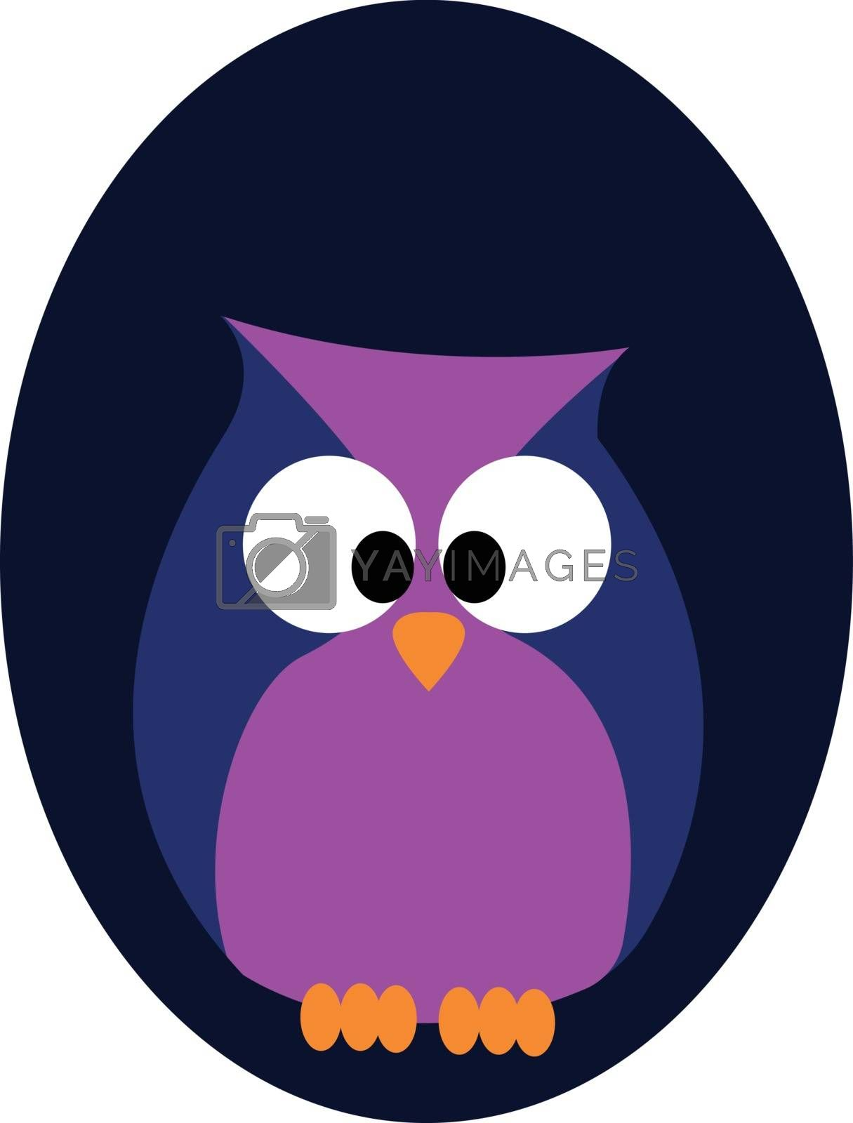 Royalty free image of Portrait of an owl over blue background vector or color illustra by Morphart