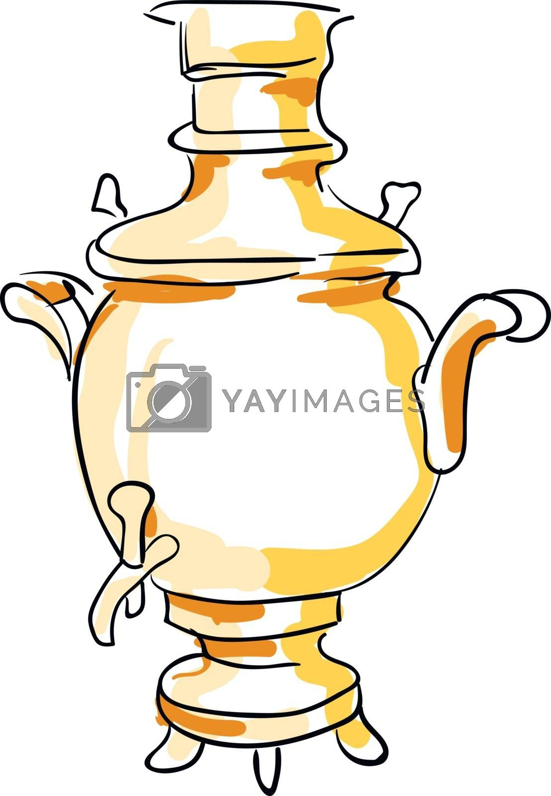 Royalty free image of Sketch of a samovar set on isolated white background vector or c by Morphart