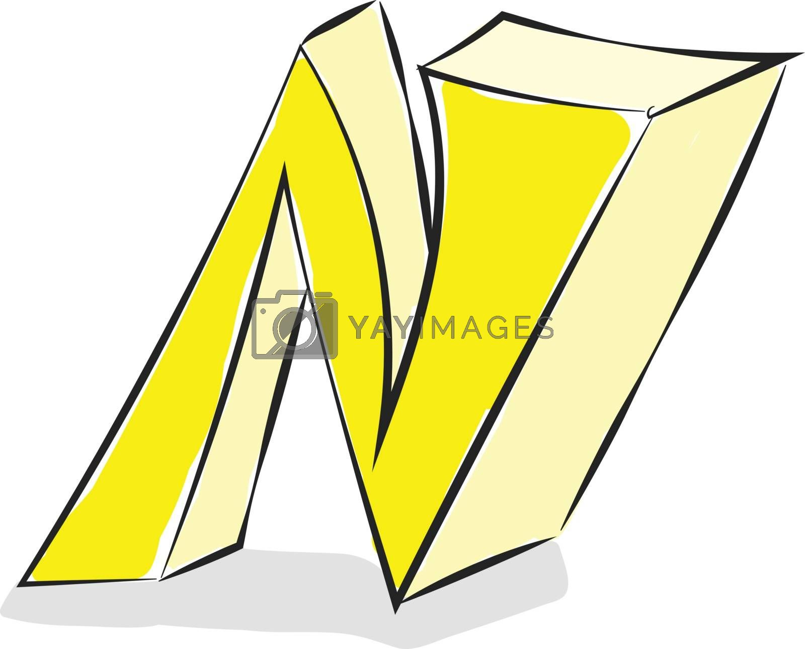 Royalty free image of Letter N alphabet vector or color illustration by Morphart