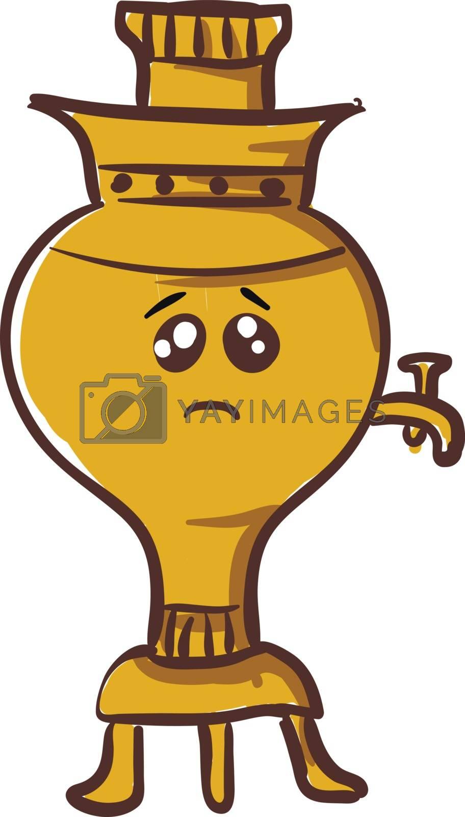 Royalty free image of Emoji of a sad samovar vector or color illustration by Morphart