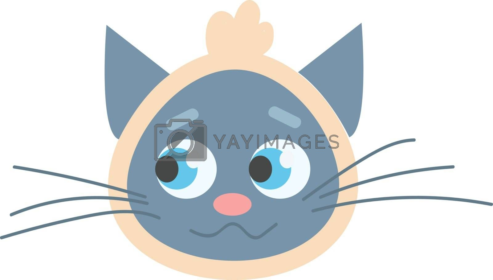 Royalty free image of Blue cat with scarf headband illustration vector on white backgr by Morphart