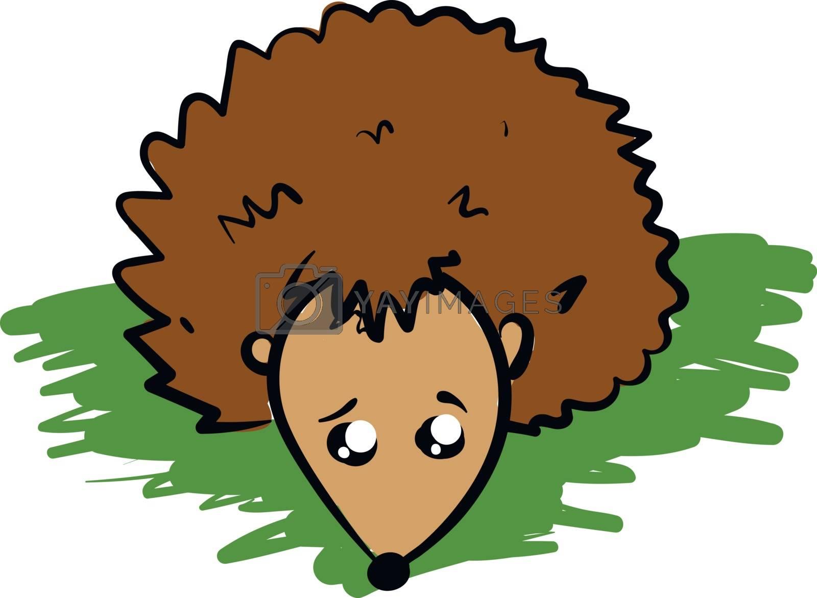 Royalty free image of Emoji of a sad brown-colored hedgehog vector or color illustrati by Morphart