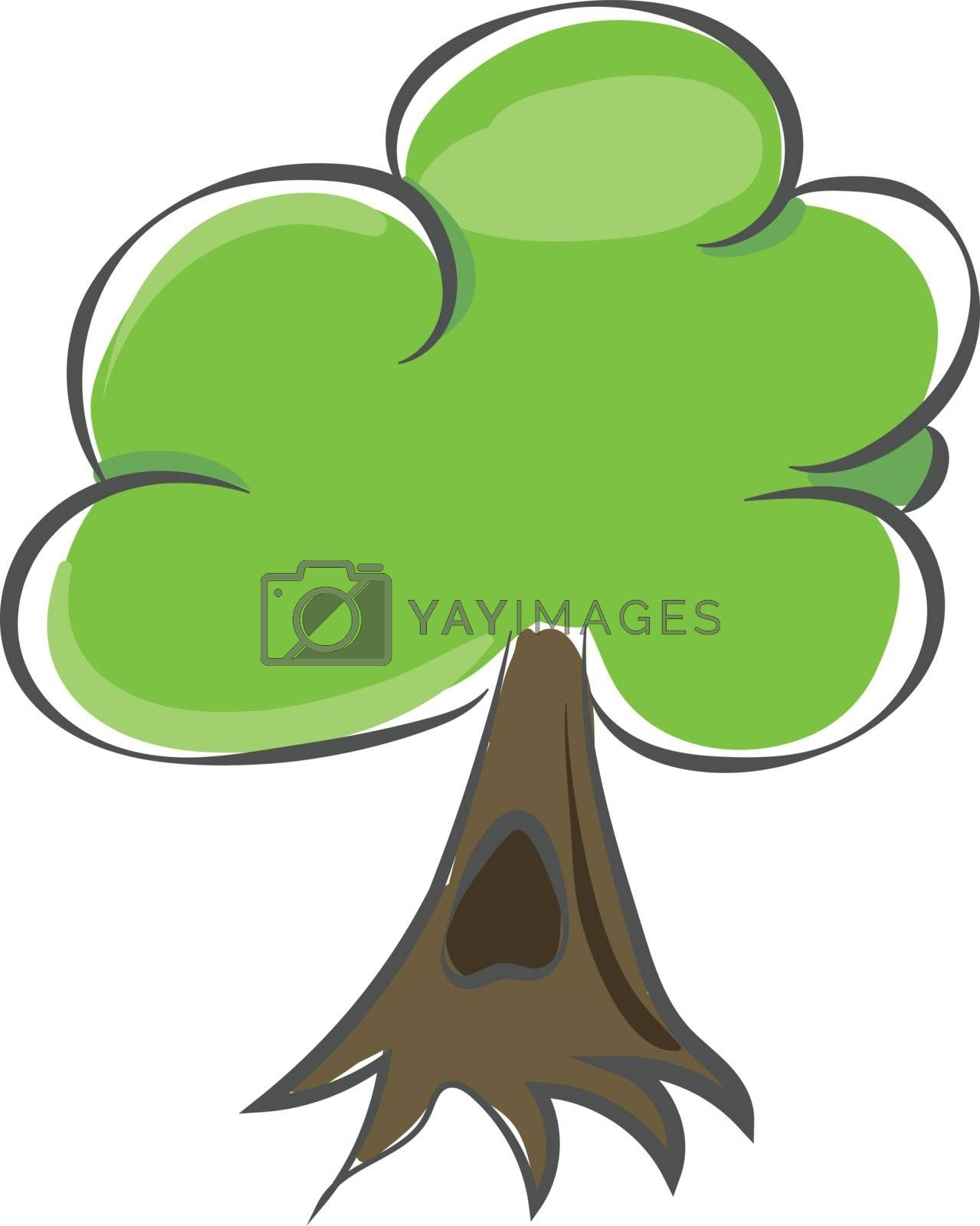 Royalty free image of Drawing of a tree/Woody perennial plant vector or color illustra by Morphart